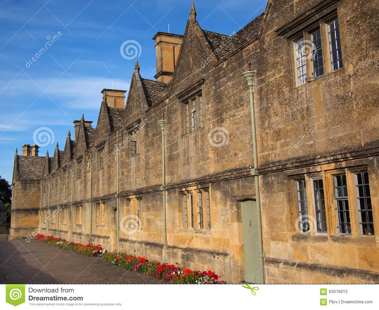 Download Les hospices image stock. Image du angleterre, architecture - 63076913