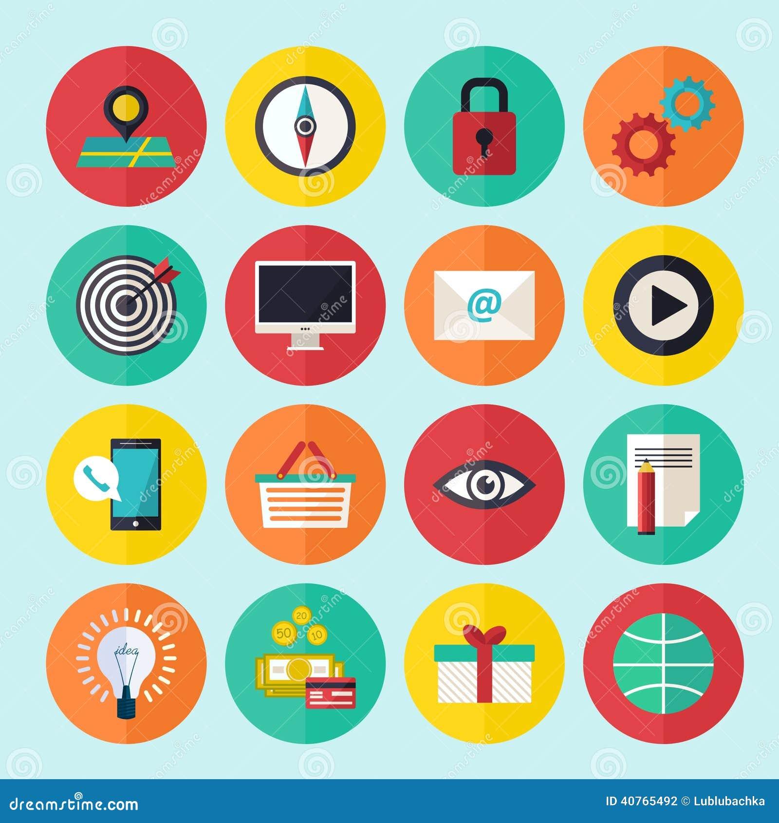 Les icônes d infographics de Web ont placé pour le site d affaires, les présentations etc.