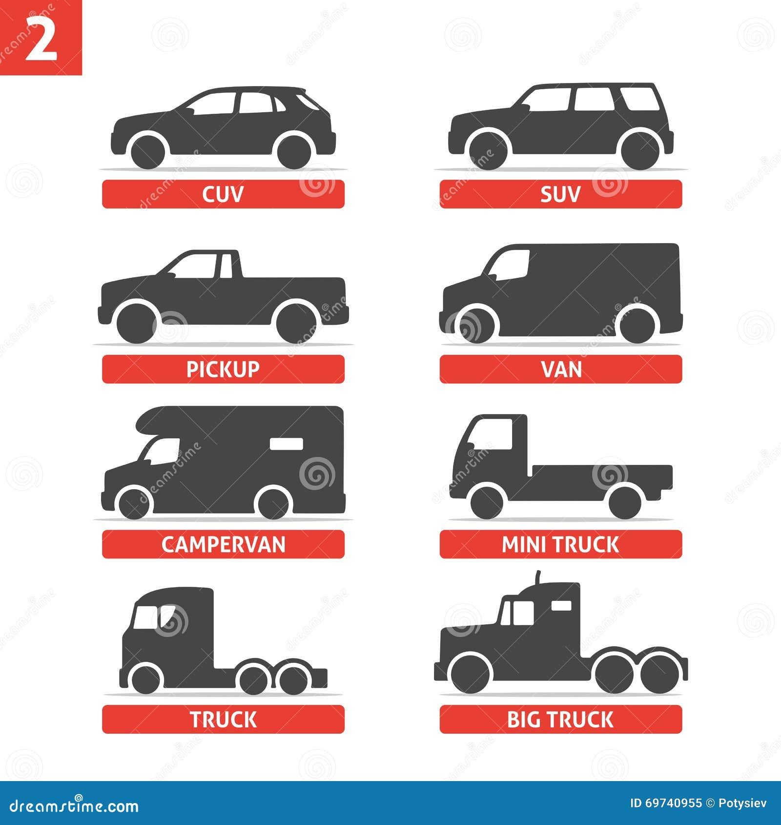 les ic nes d 39 objects de type et de mod le de voiture ont plac automobile illustration de. Black Bedroom Furniture Sets. Home Design Ideas