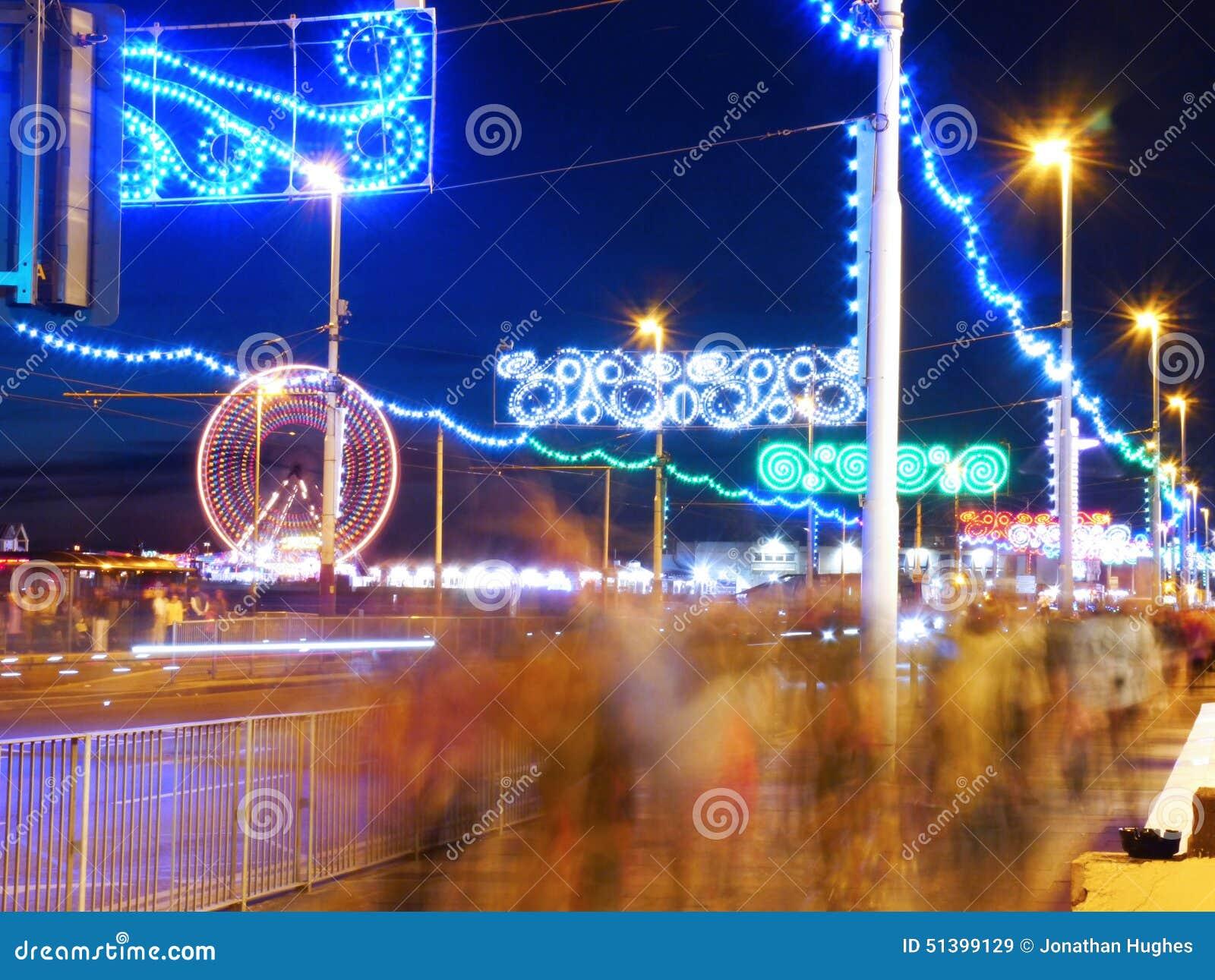 Les illuminations d or de mille à Blackpool