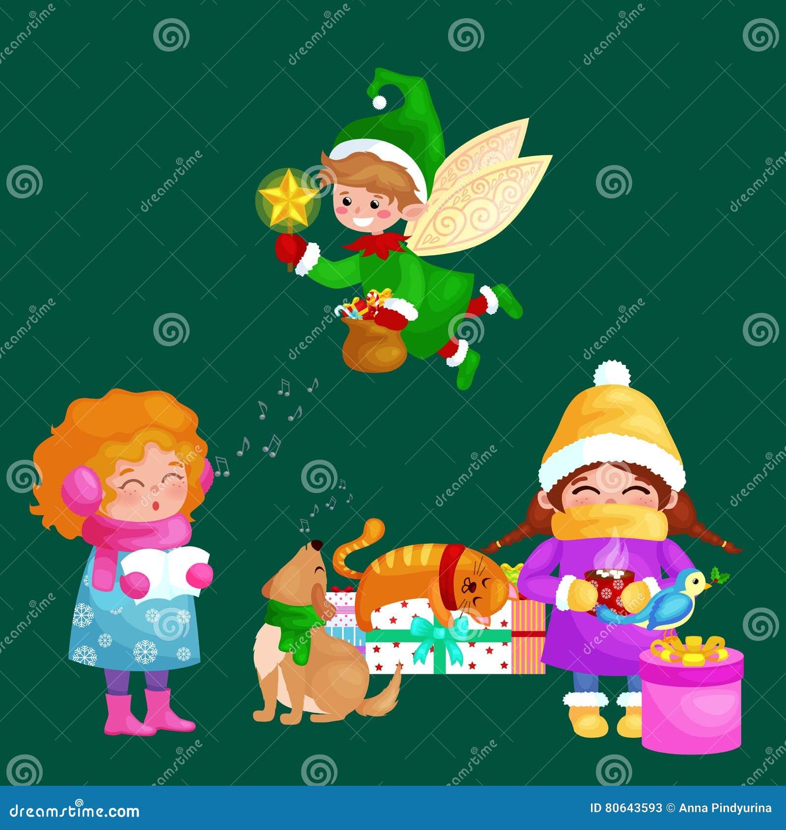 Chanson Joyeux Noel.Les Illustrations Reglees Bonne Annee De Joyeux Noel Fille
