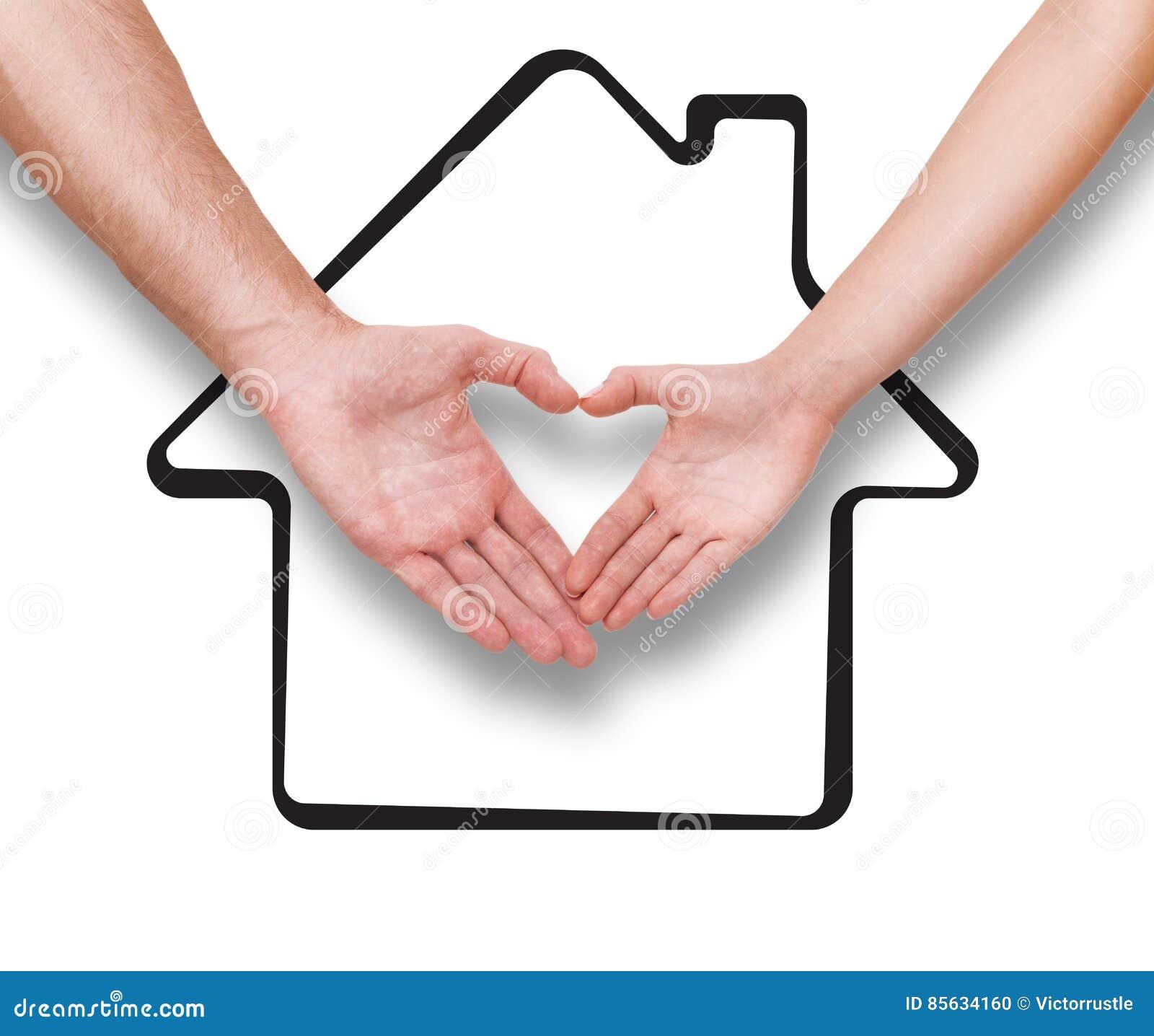 Les immobiliers la famille et le concept de couples for Dessin de maison