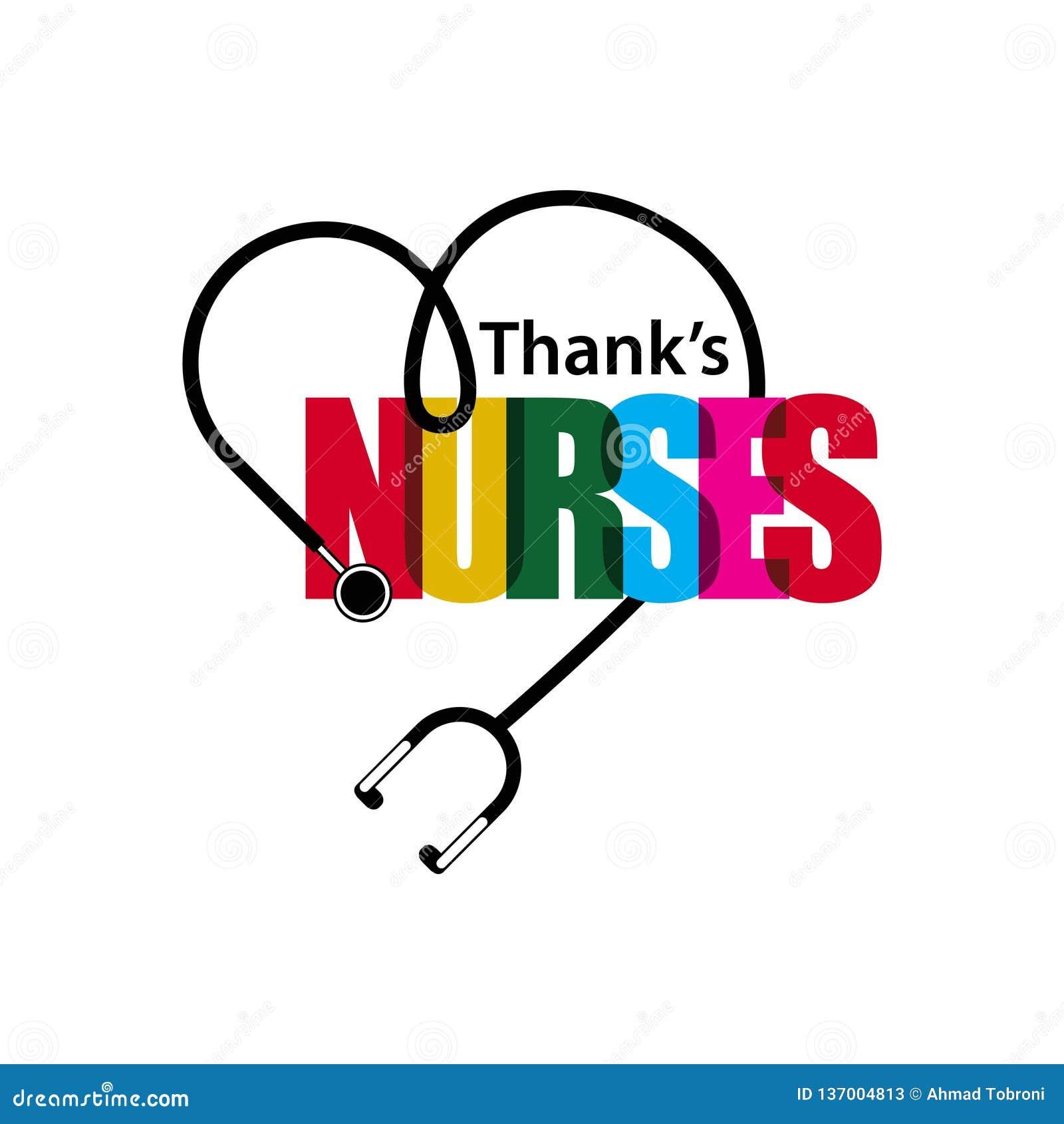 Les infirmières merci dirigent l illustration de conception de calibre