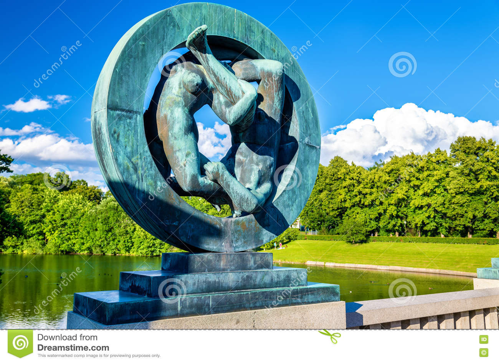 Les installations de sculpture en Vigeland dans Frogner garent - Oslo