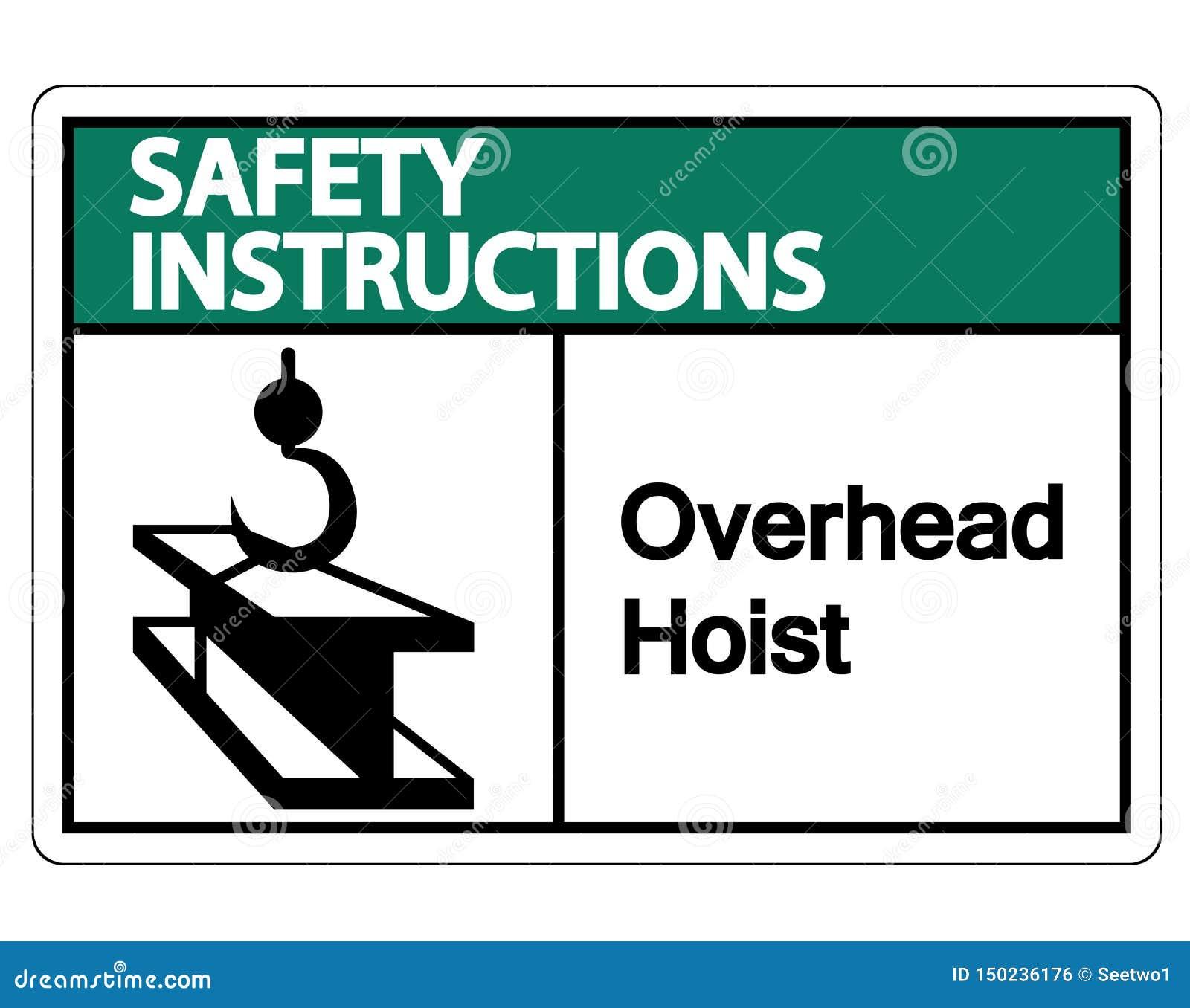 Les instructions de sécurité au-dessus lèvent l isolat de signe de symbole sur le fond blanc, illustration de vecteur