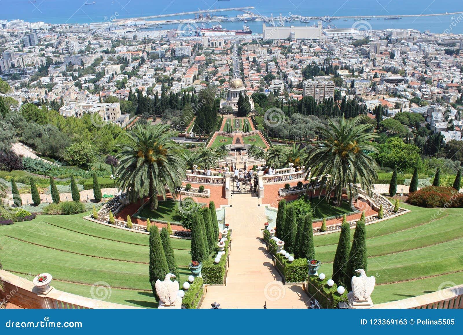 Les jardins de Bahai