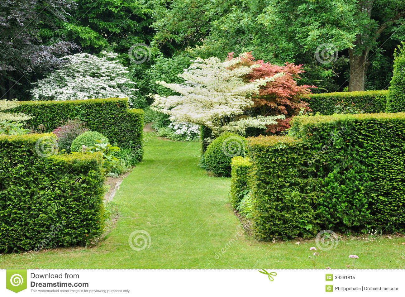 Les Jardins Du Pays D Auge In Cambremer In Normandie Stock