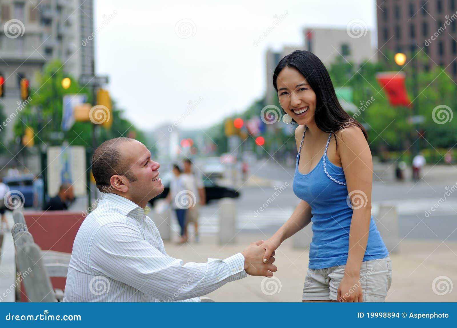 Black Ebony Teen Couple