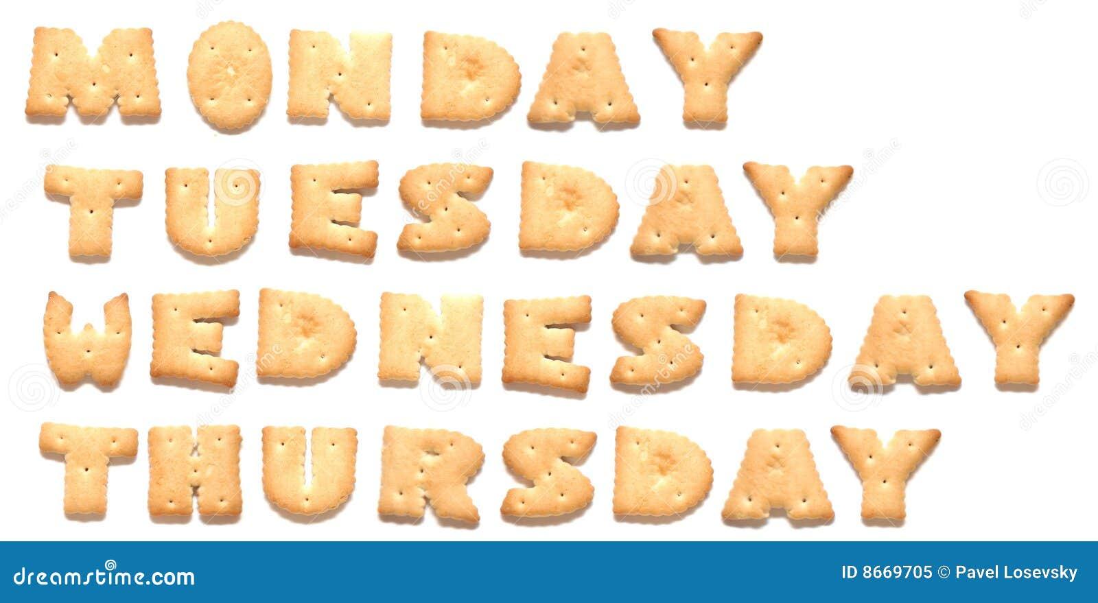 Les jours de biscuits ont effectué la semaine