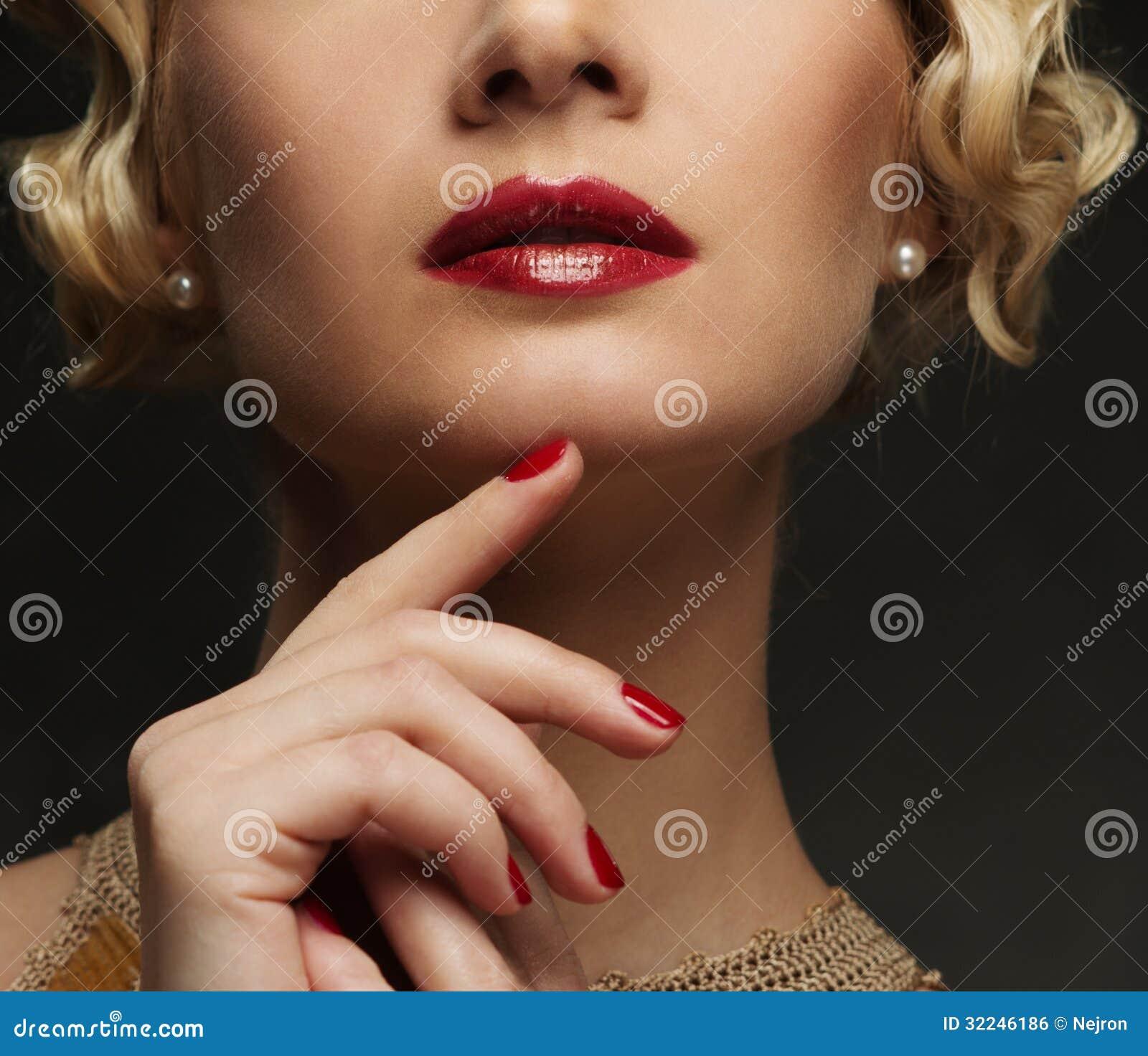 Les lèvres de la femme
