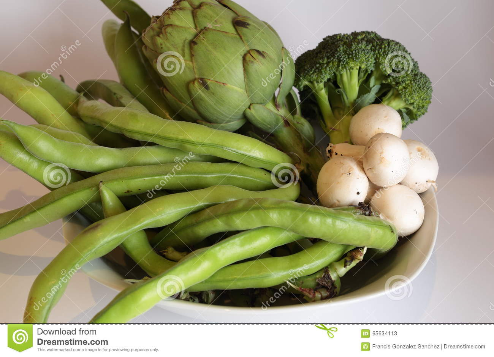 Les légumes oassorted n un plat