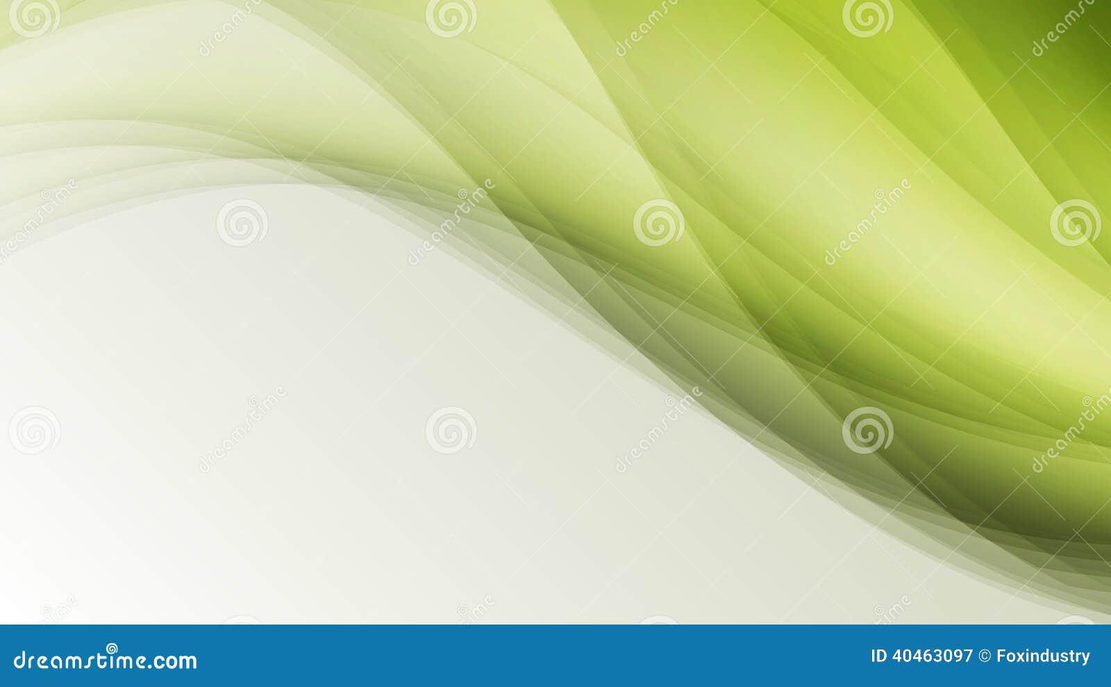 Les lignes créatives d eco de feuille verte de vague soustraient le fond