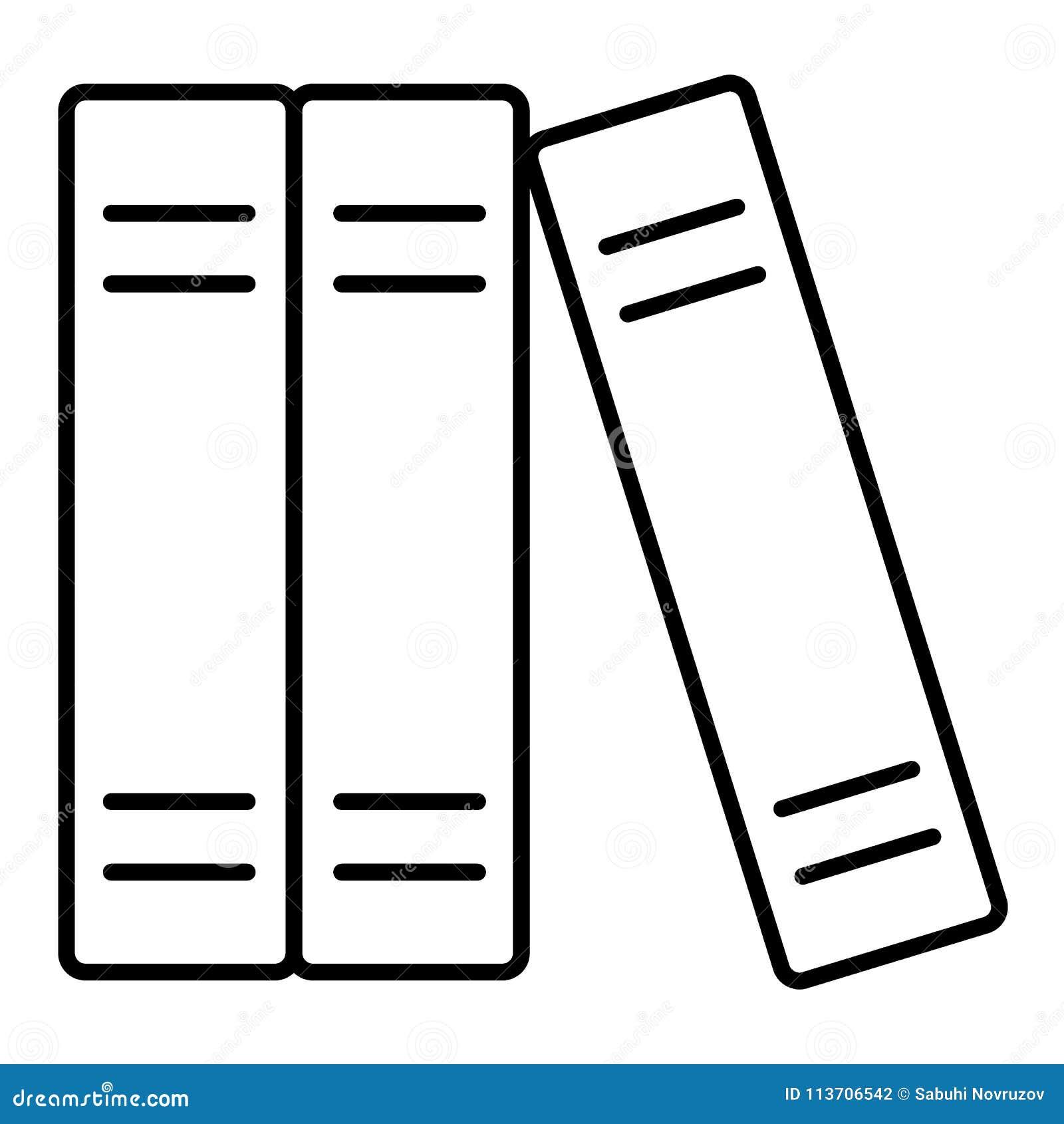 Les Livres Rayent L Icone Signe De Vecteur D Ensemble