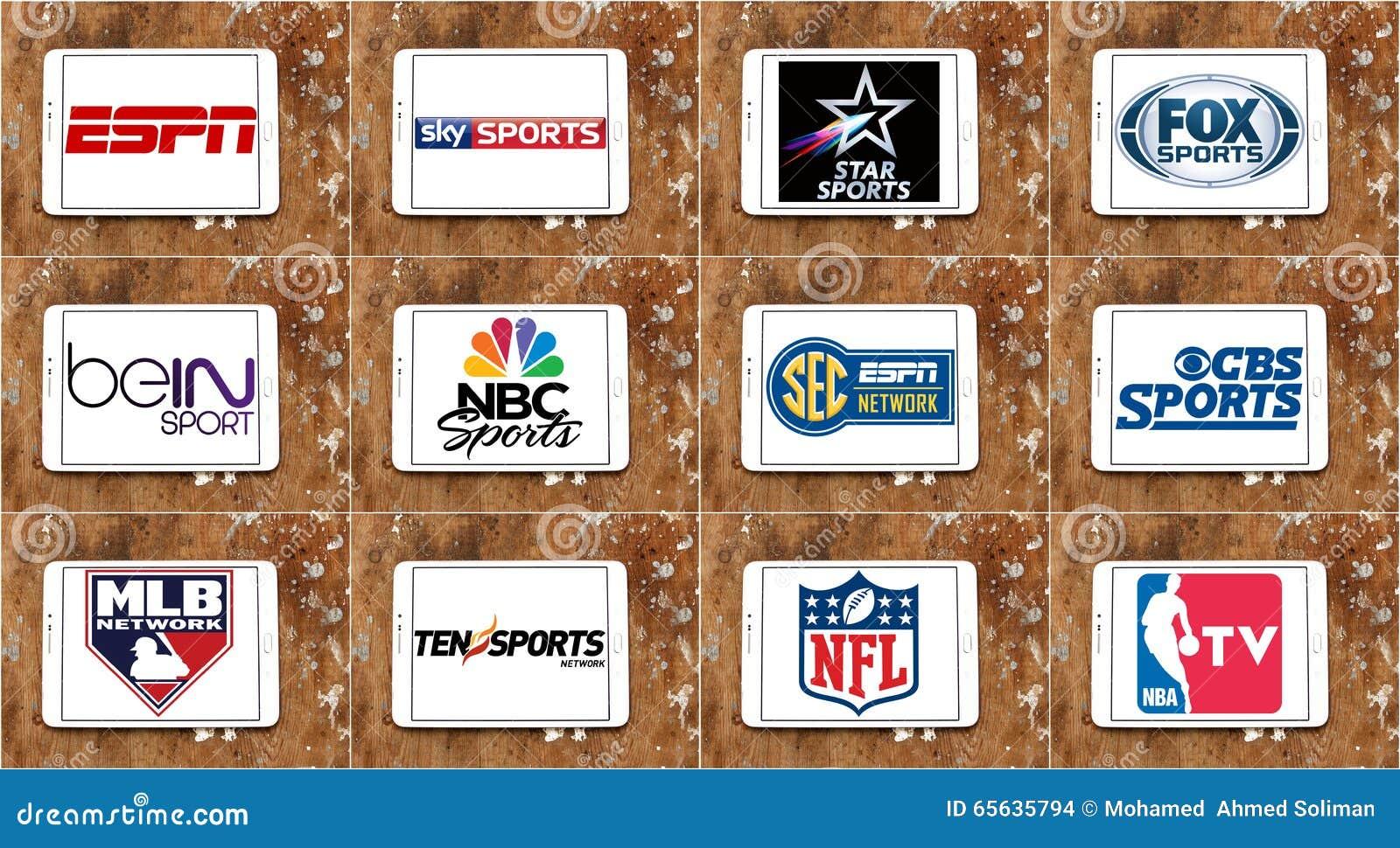 Les logos de la TV célèbre supérieure folâtre des canaux et des réseaux