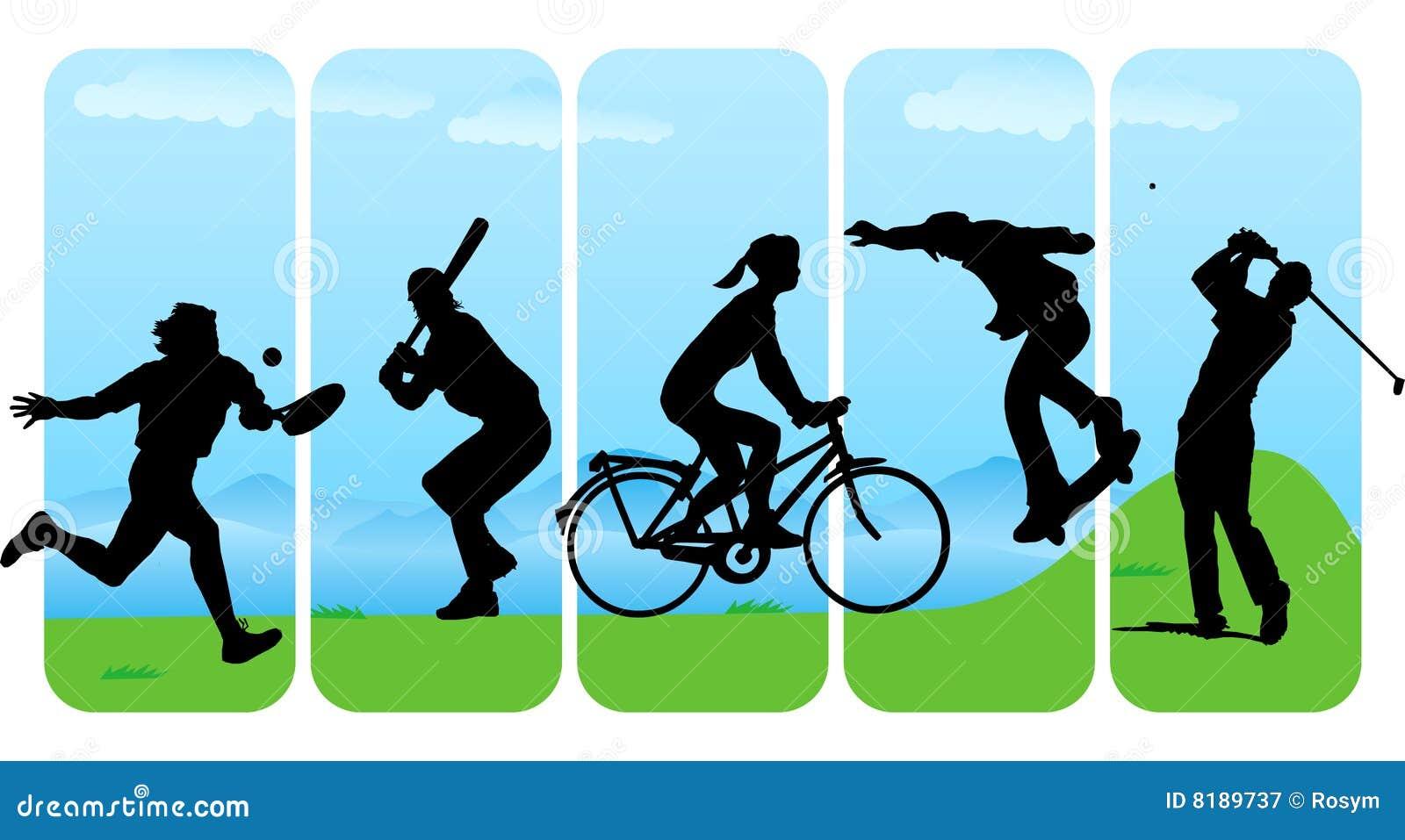 Les loisirs silhouettent le sport