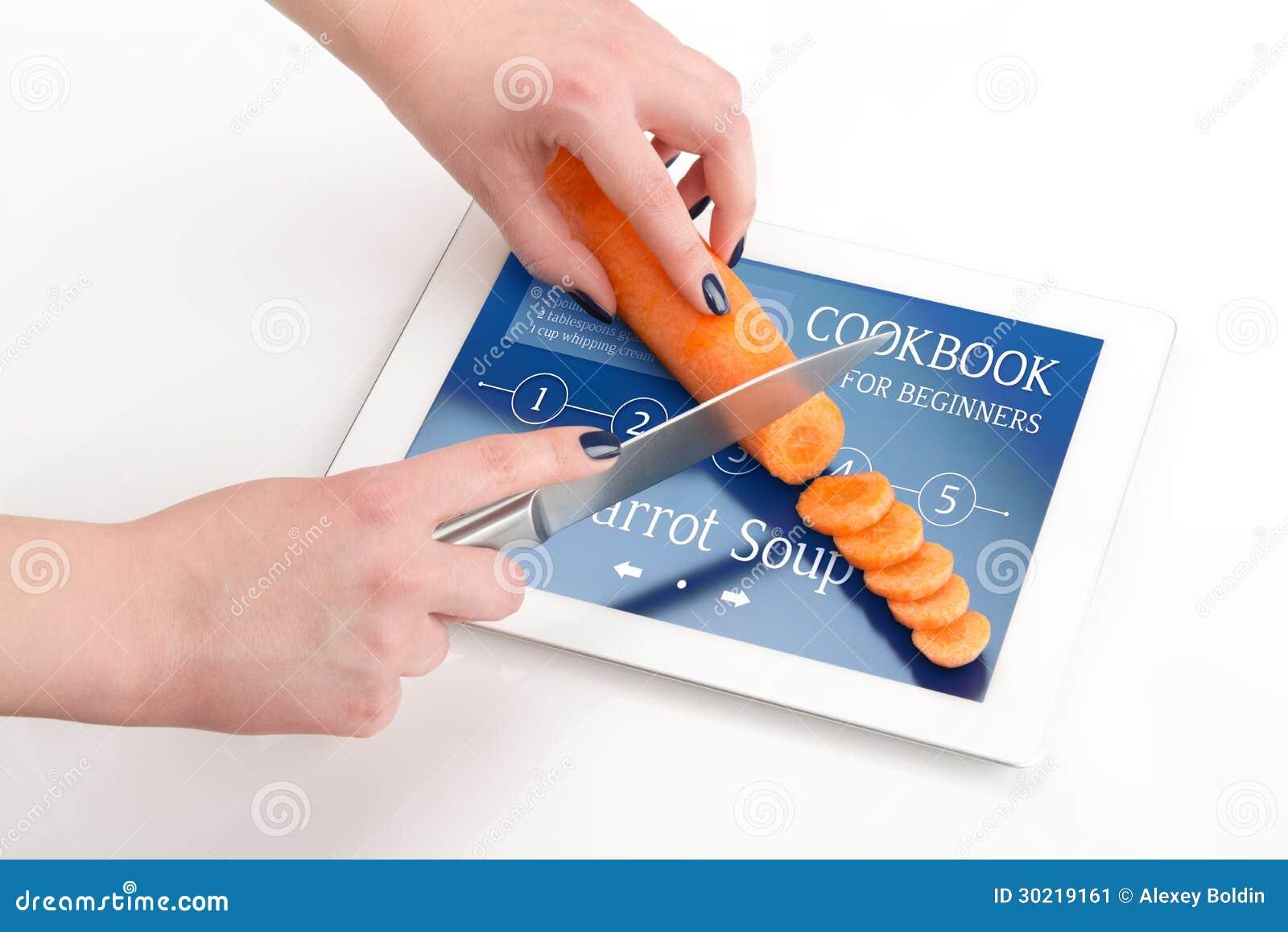 Livre de cuisine pour des d butants avec une carotte image stock image 30219161 - Robot pour raper les carottes ...