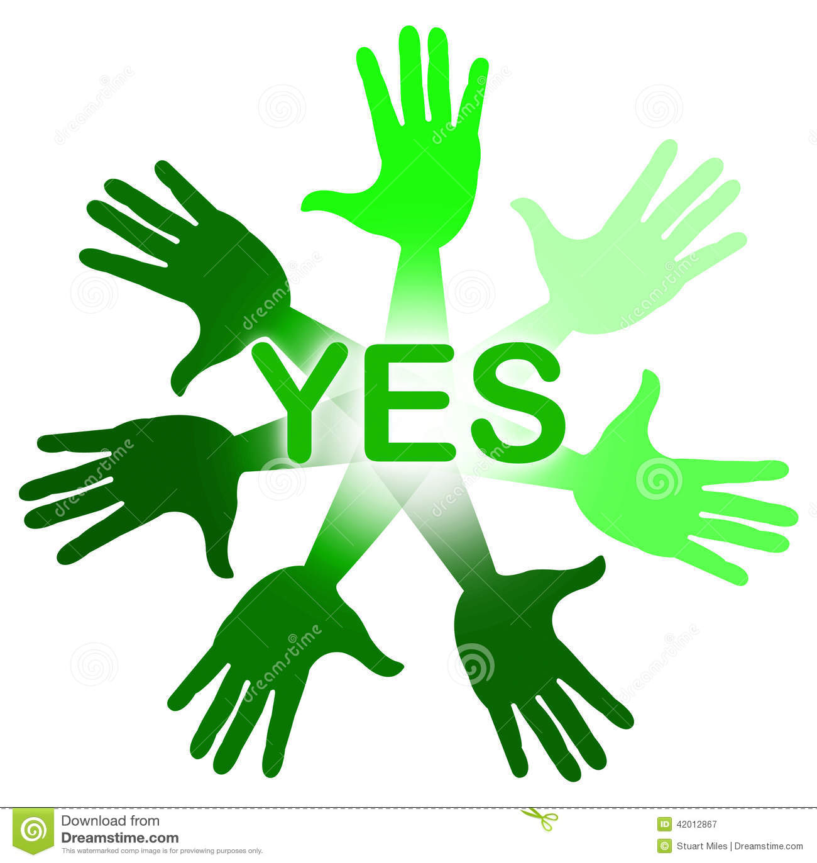 Les mains signifie oui convenir O k Et affirmez