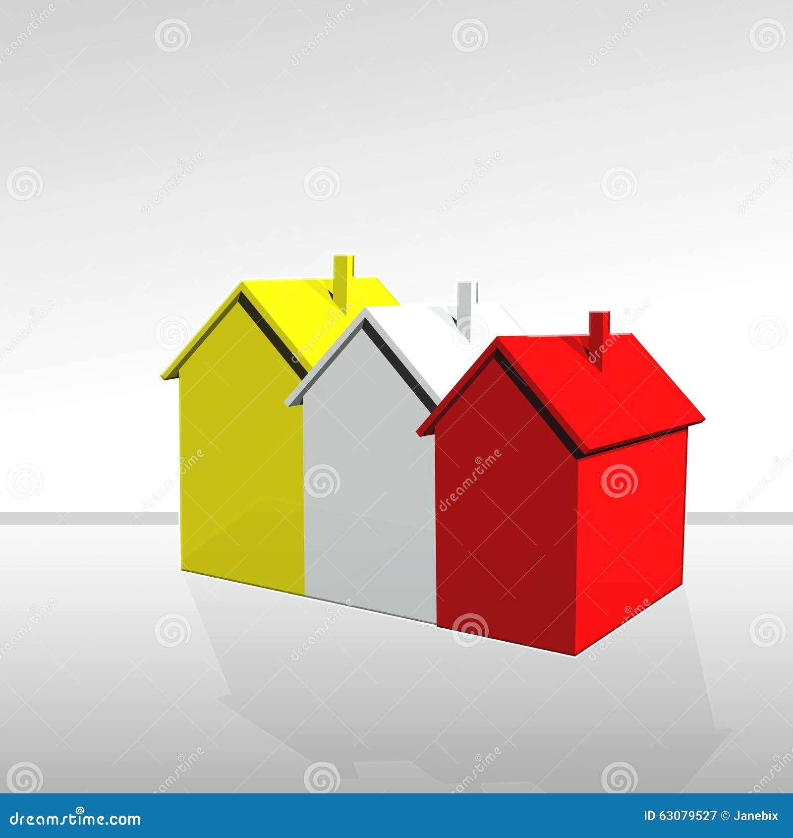 Download Les maisons illustration stock. Illustration du affaires - 63079527