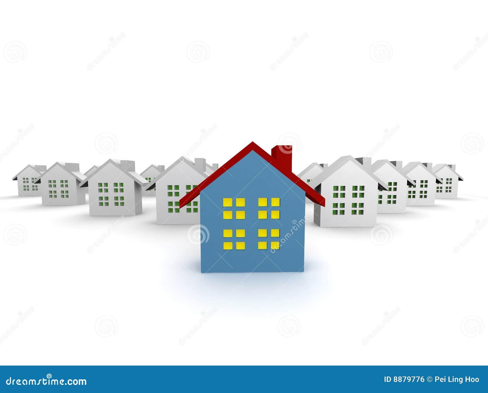 Les maisons bleues ont isolé exceptionnel