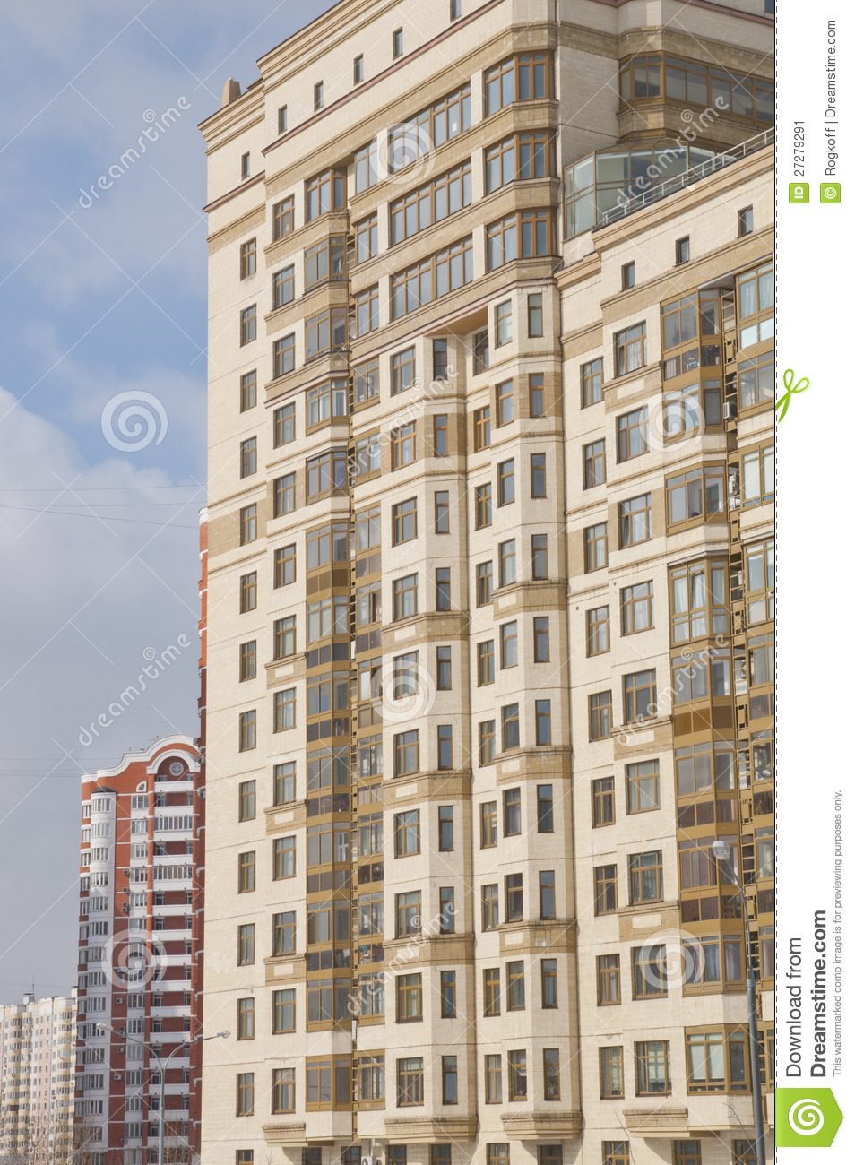 Les maisons resedental de fa ade image stock image 27279291 - Achat appartement amsterdam ...