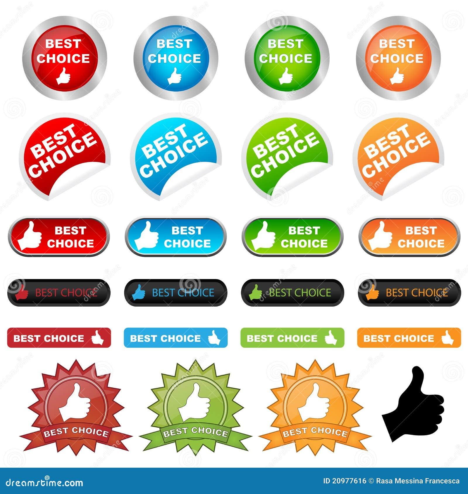 Les meilleurs boutons bien choisis