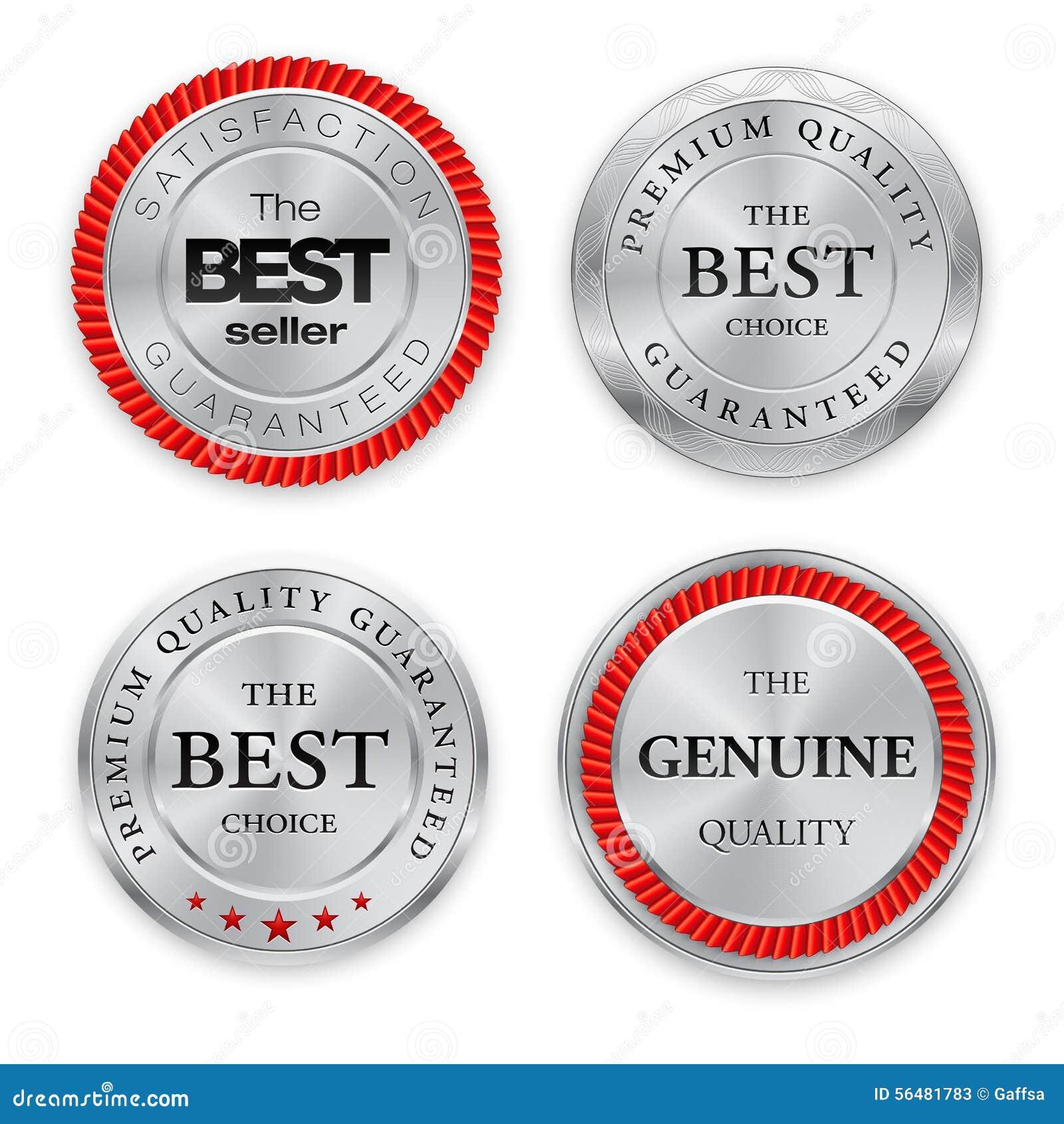 Les meilleurs insignes argentés réglés Médaille ronde en métal ou