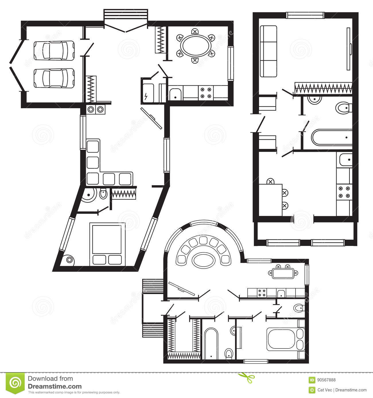 Architecture dessin moderne for Dessin plan architecture