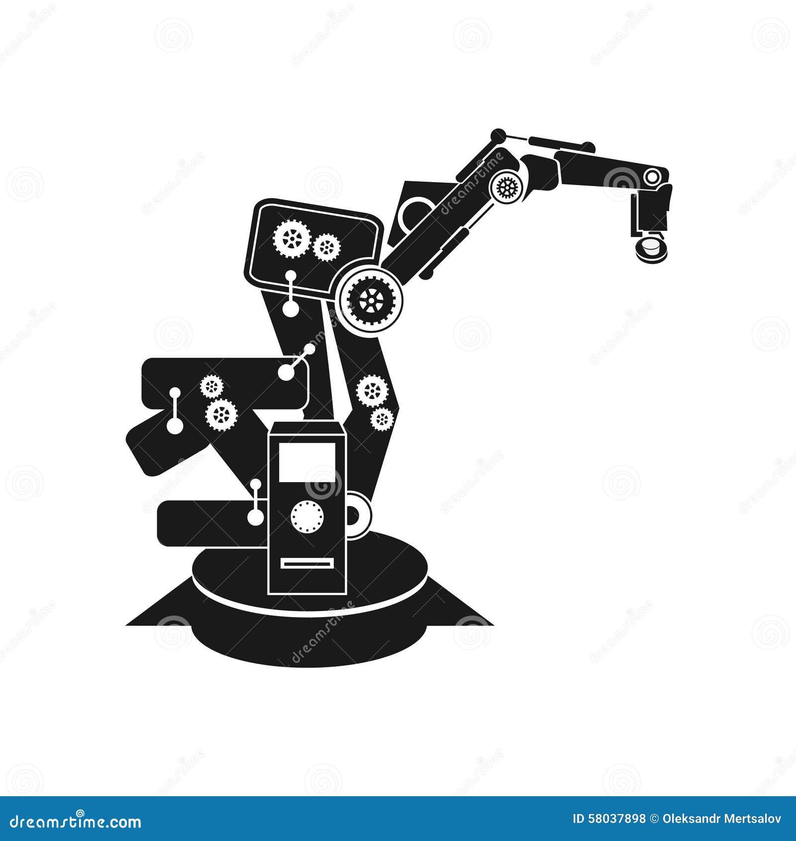 Les Milieux Soustraient La Robotique De Vecteur Main De