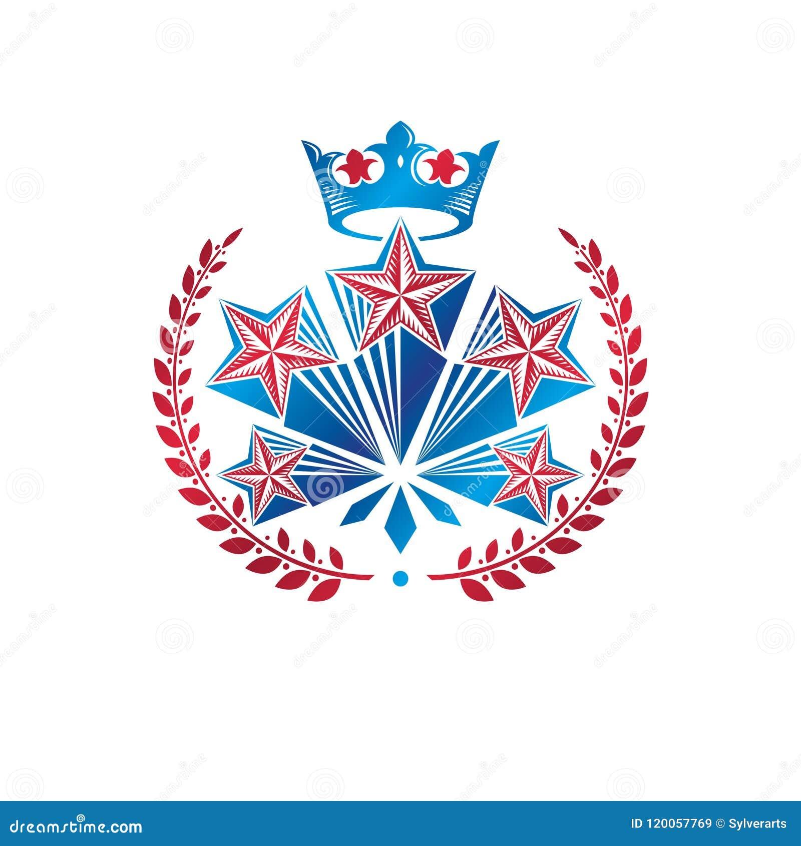 Les militaires tiennent le premier rôle l emblème créé avec la guirlande royale de couronne et de laurier