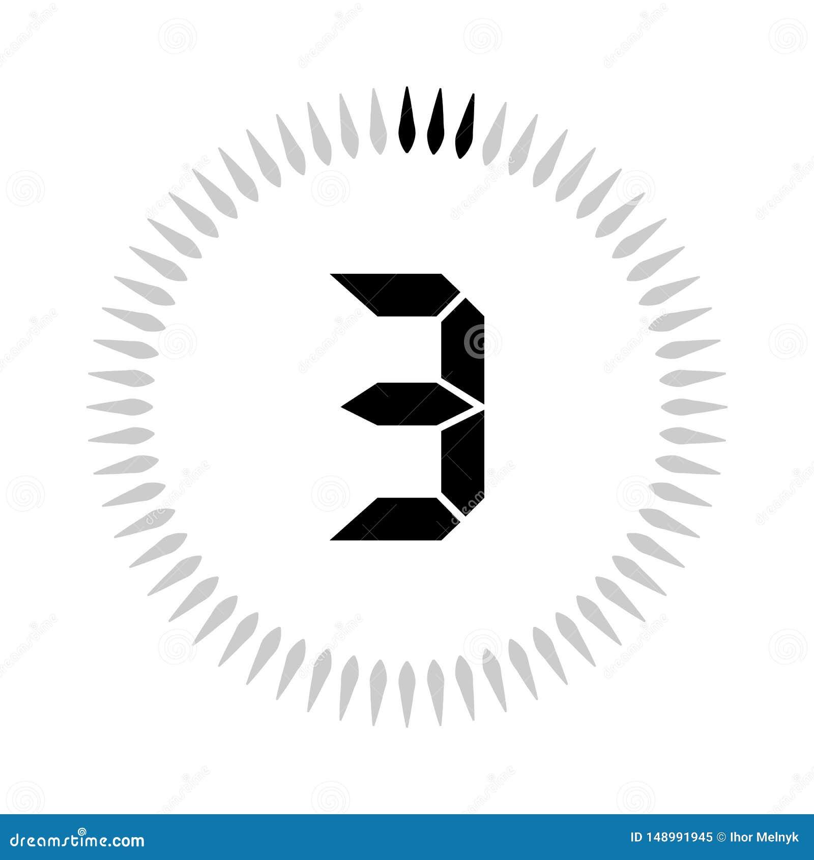 Les 3 minuteries de minutes ou de secondes