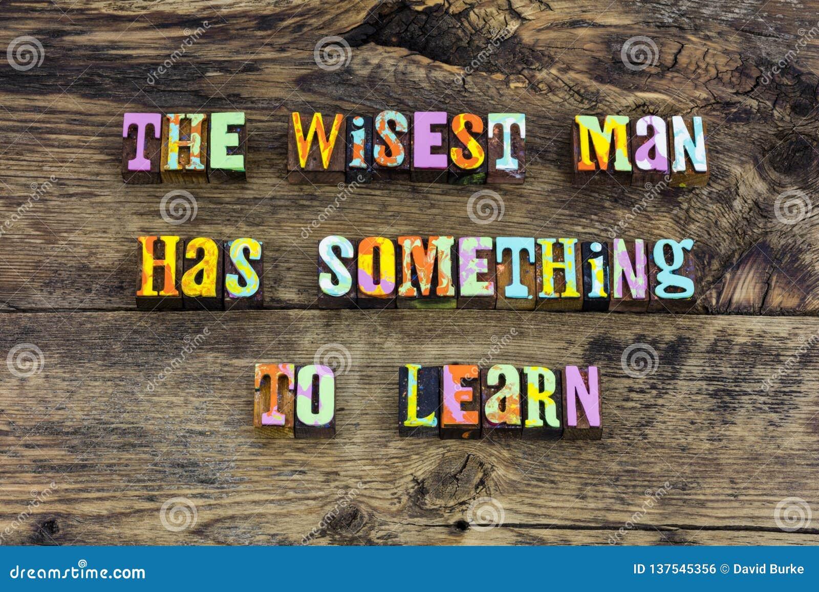 Les mots de sage apprennent demandent la typographie d aide