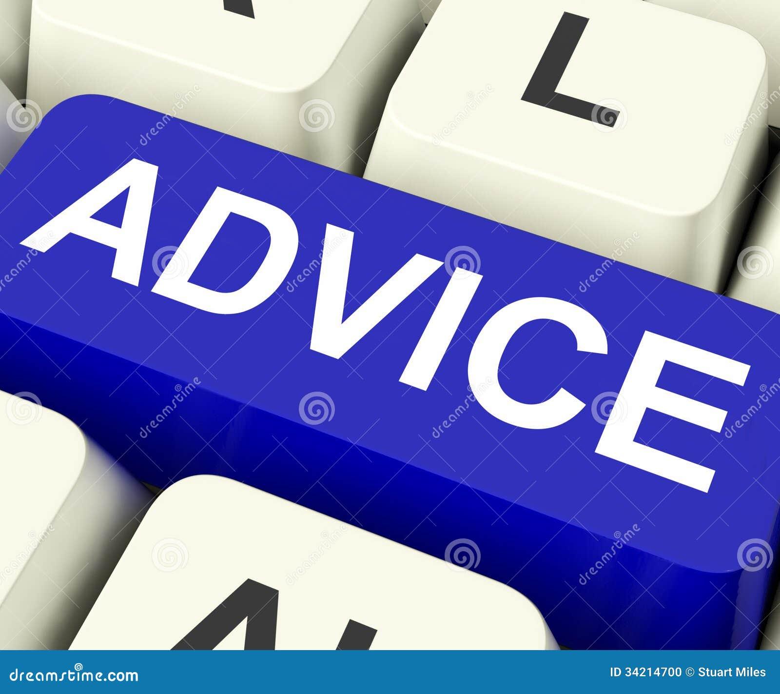 Les moyens de clé de conseil recommandent ou suggèrent