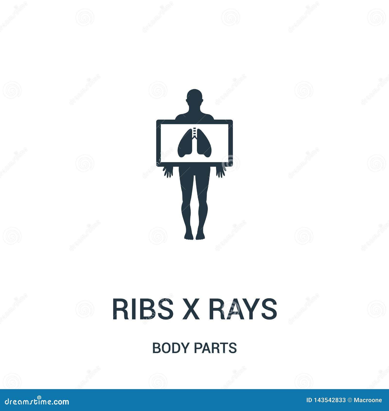 Les nervures x rayonne le vecteur d icône de la collection de parties du corps La ligne mince nervure l illustration de vecteur d