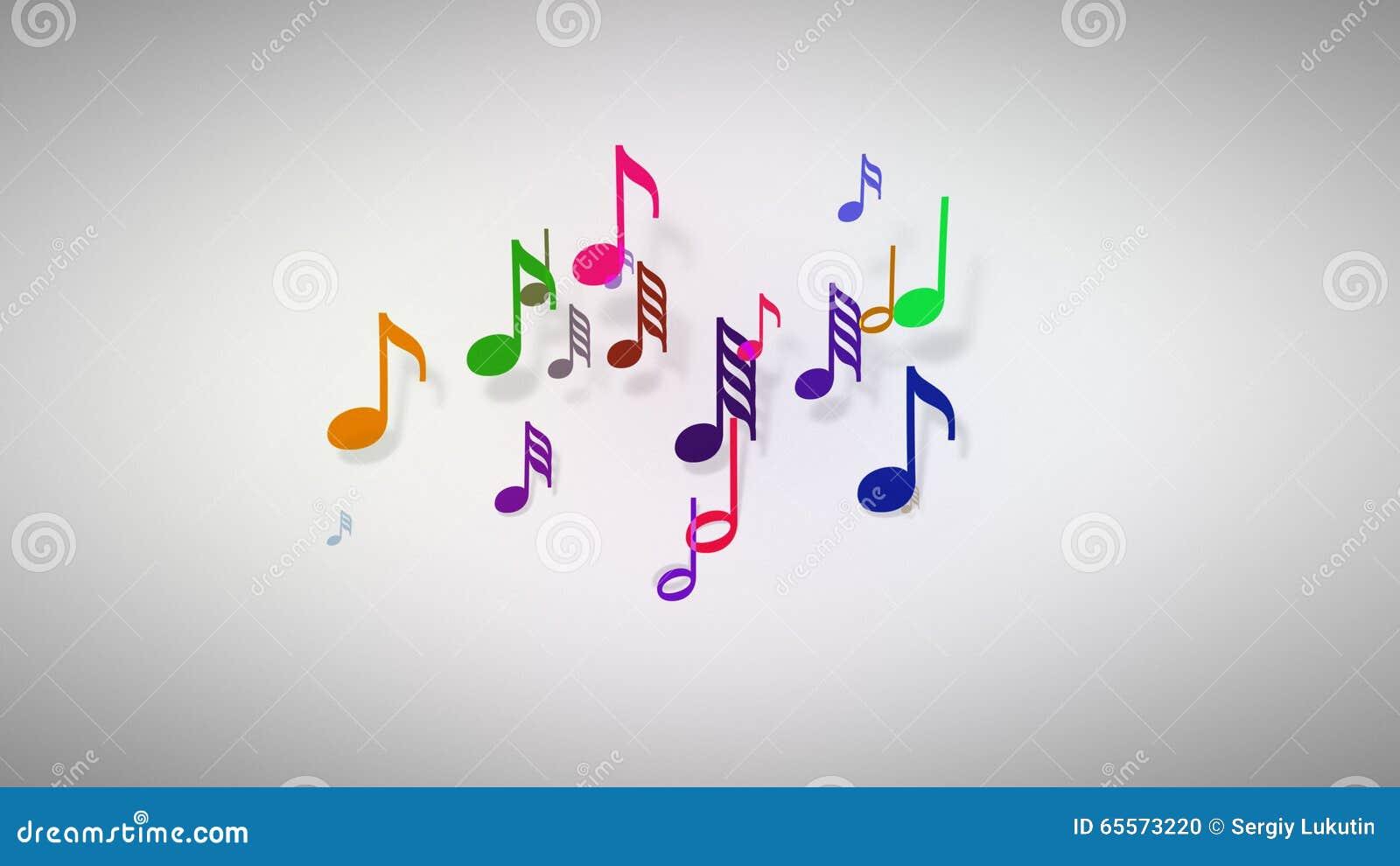 Les notes musicales avec la profondeur du champ