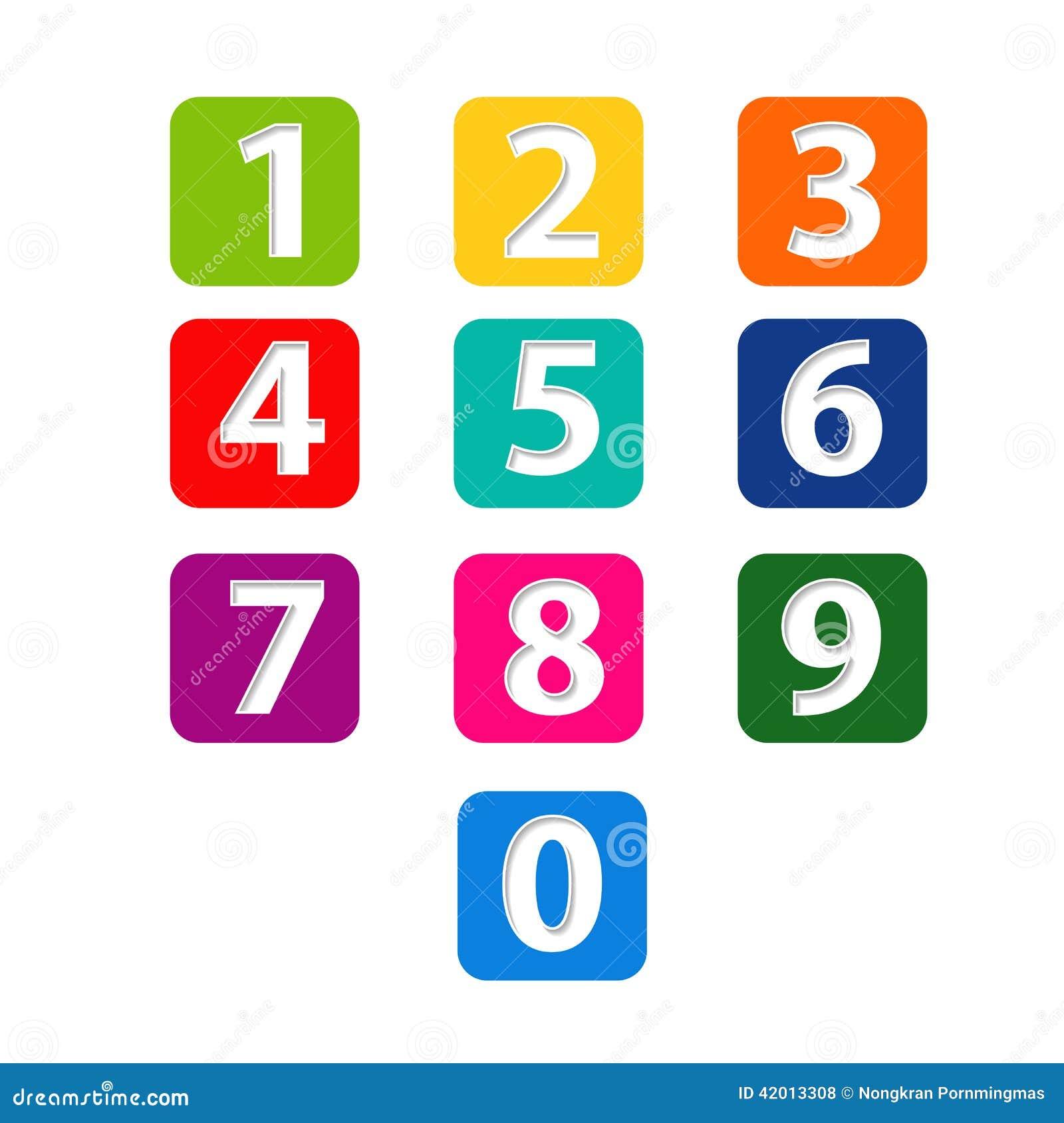 Les numéros ont placé coupe de papier