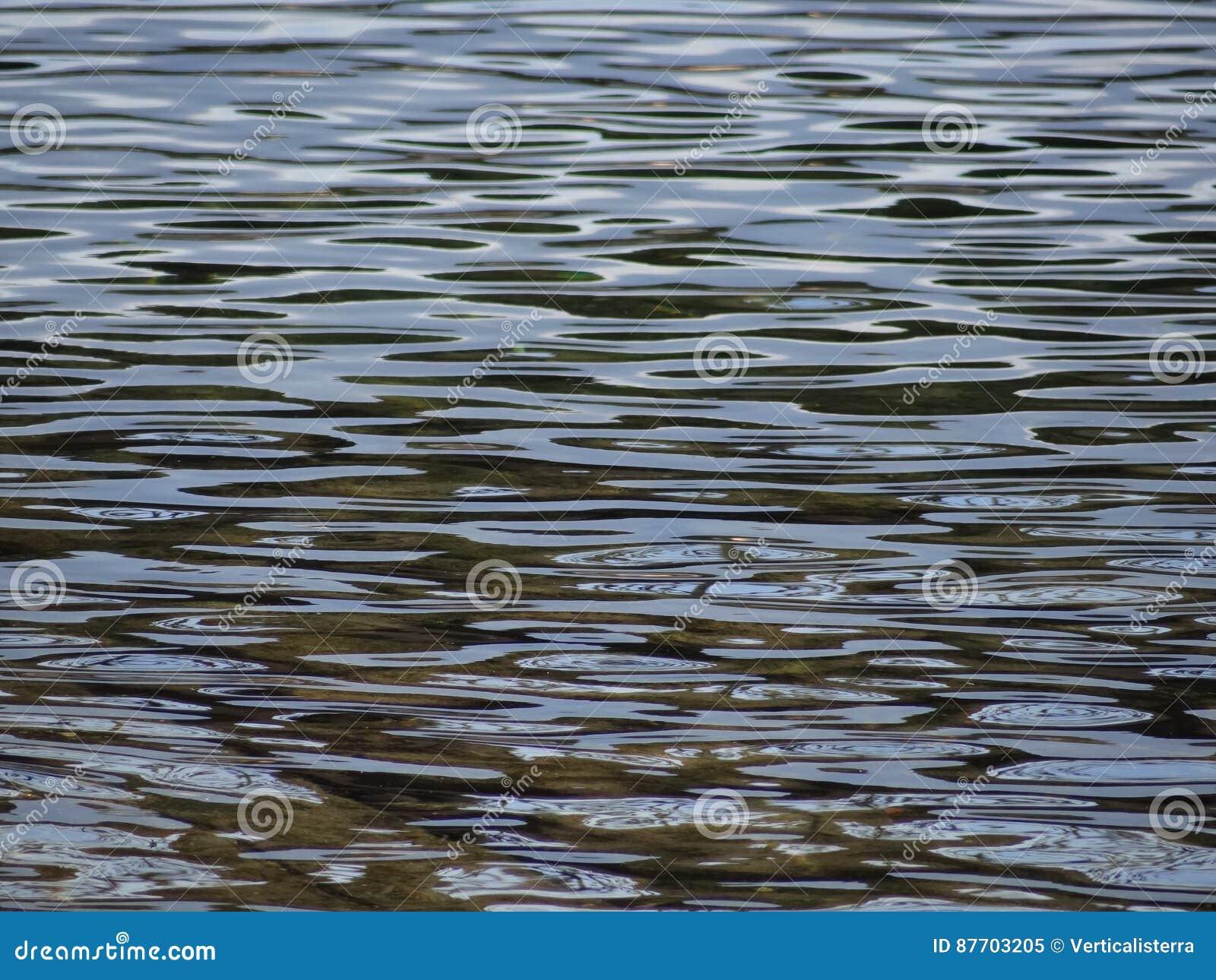 Les ondulations du lac forment comme une danse
