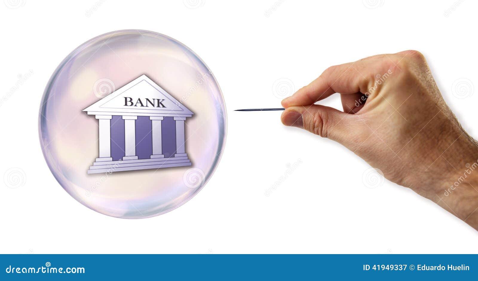 Les opérations bancaires et le crédit bouillonnent environ pour éclater par une aiguille
