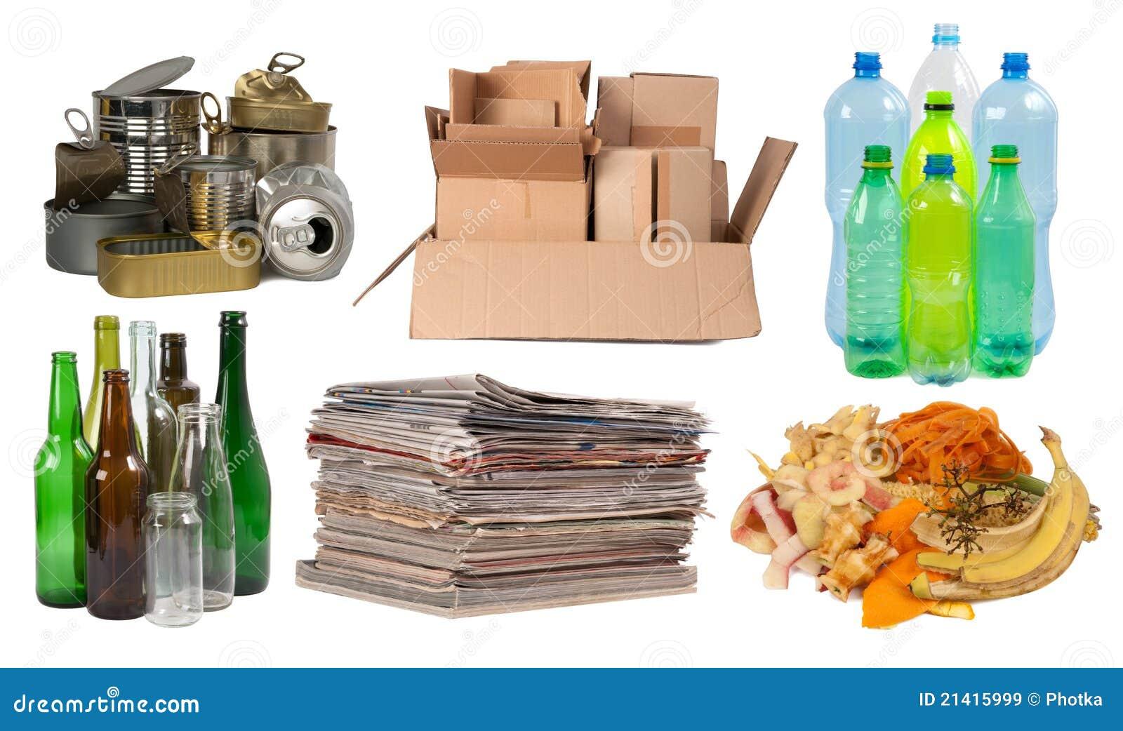 Les ordures se sont préparées à la réutilisation