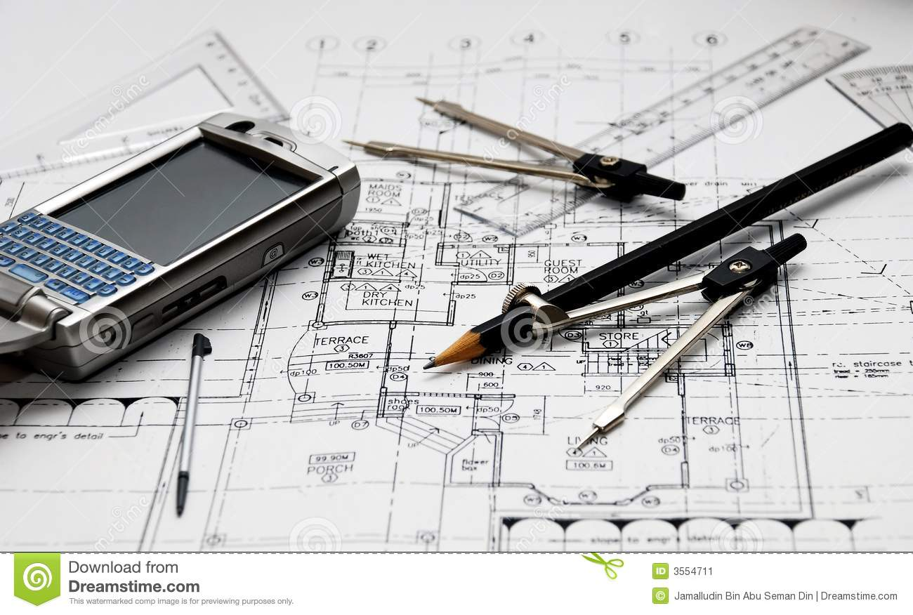 Les outils de l 39 architecte image stock image 3554711 for L architecture