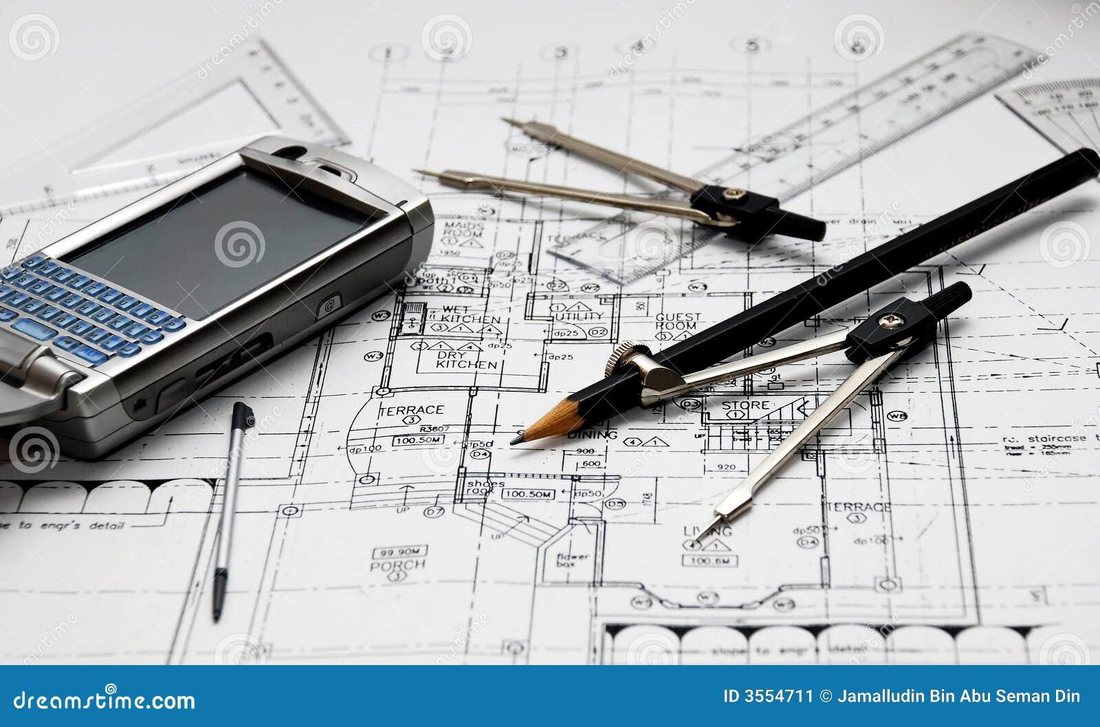 les outils de l 39 architecte image stock image 3554711