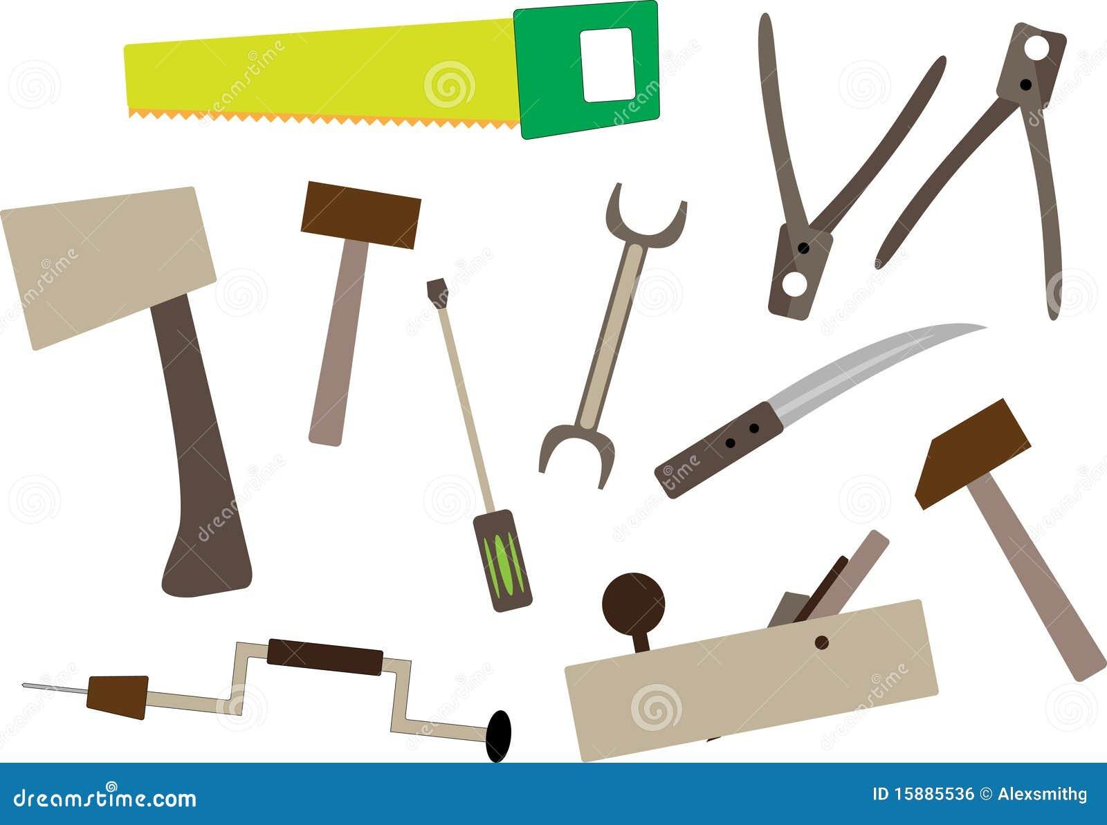 les outils du menuisier image libre de droits image. Black Bedroom Furniture Sets. Home Design Ideas