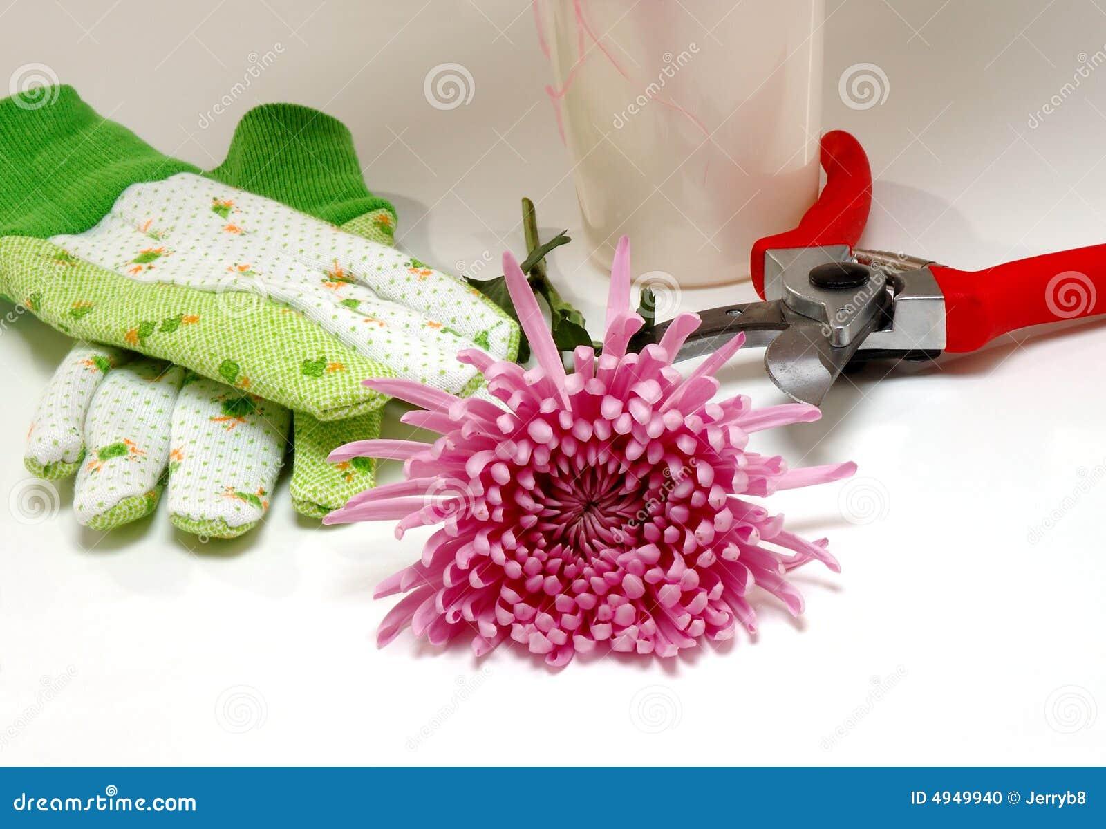 Les outils et la fleur du fleuriste photo stock image du for Fleuriste jardin des fleurs