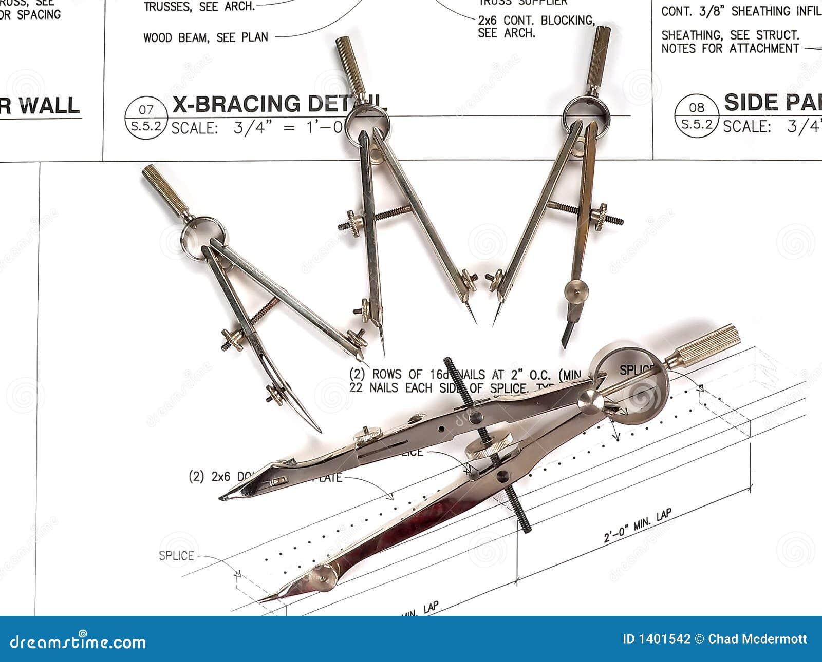 Les outils et les plans de l architecte