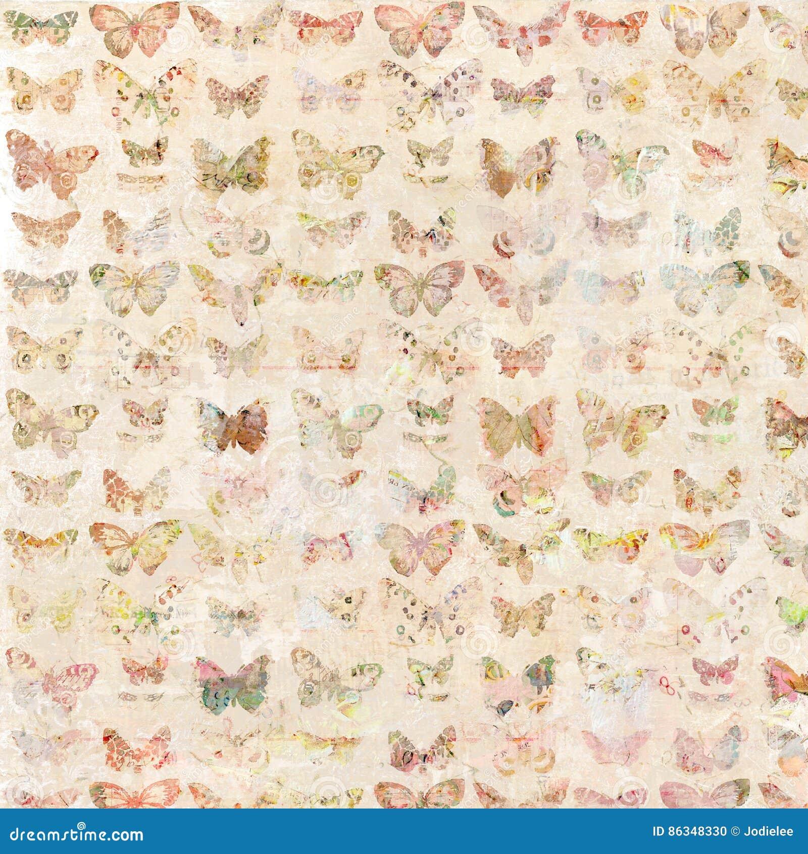 Les papillons antiques d aquarelle illustrés ont modelé le fond