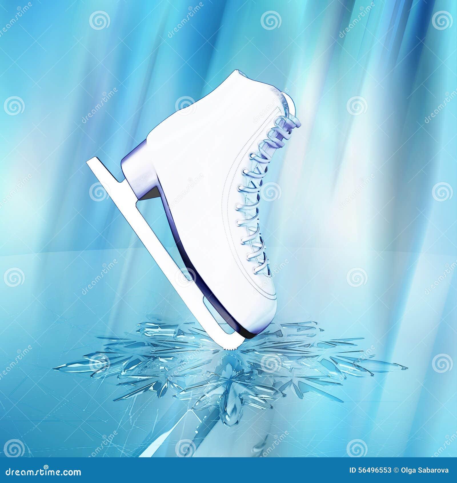 les patins pour le patinage artistique illustration stock illustration du concurrence pour. Black Bedroom Furniture Sets. Home Design Ideas