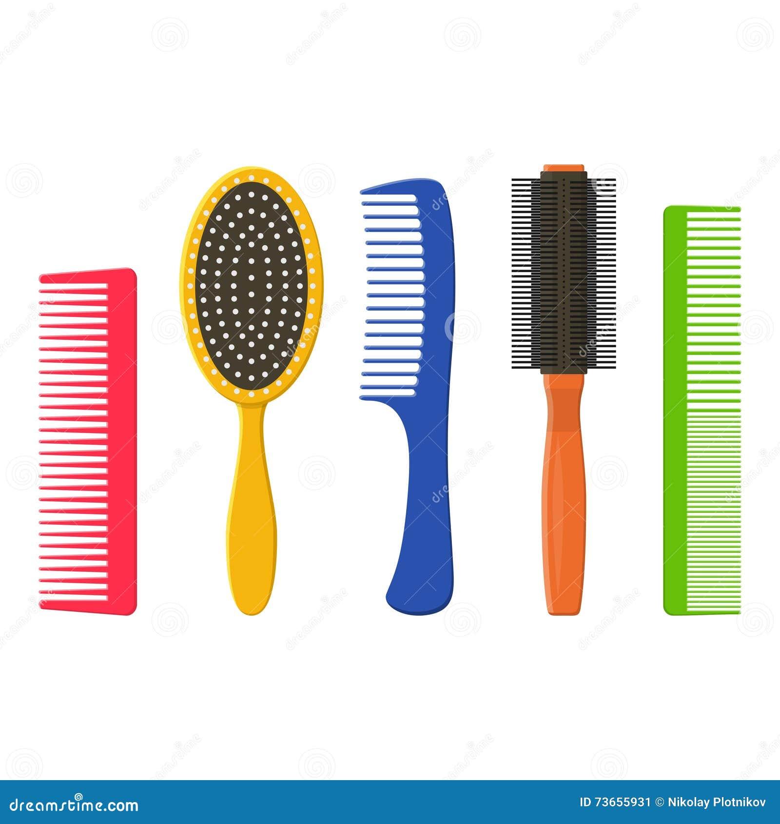 les peignes et les brosses cheveux de cheveux ont plac sur un fond blanc brosse cheveux de. Black Bedroom Furniture Sets. Home Design Ideas