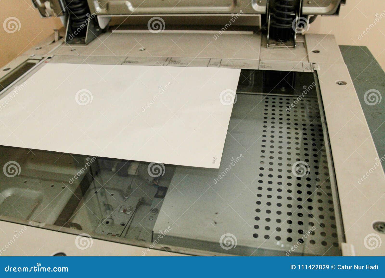 Les pièces de copieur, photocopieur regarde d en haut