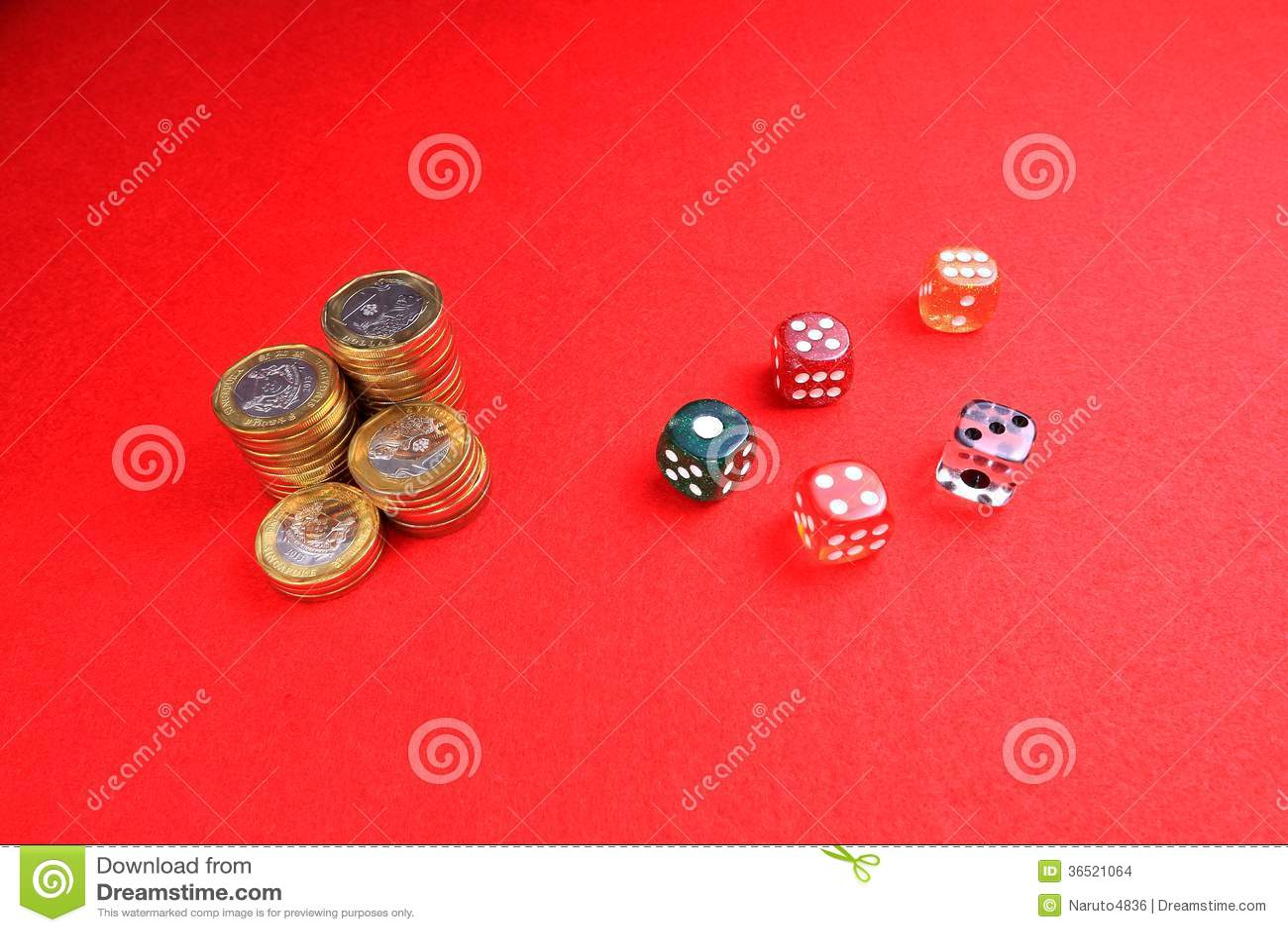 Les pièces de monnaie et découpe