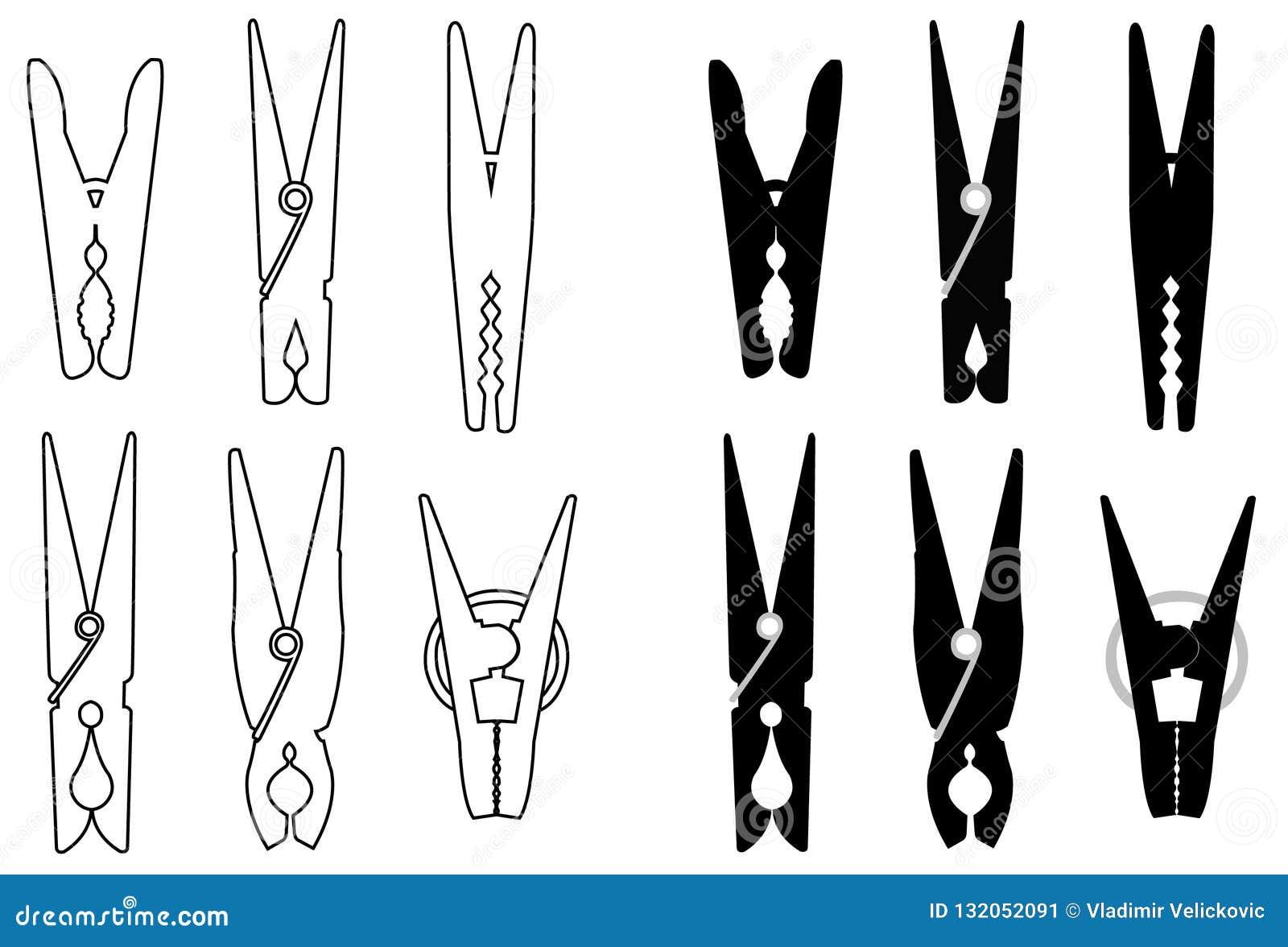 Pour Accrocher Les Vetements les pinces à linge ou pince à linge la silhouette - attache
