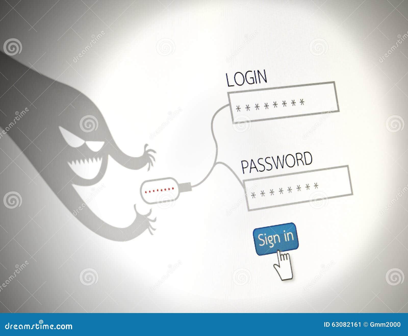 Download Les Pirates Informatiques Volent Le Concept De Photo De Mots De Passe De La Sécurité, Websit Illustration Stock - Illustration du concept, intrus: 63082161